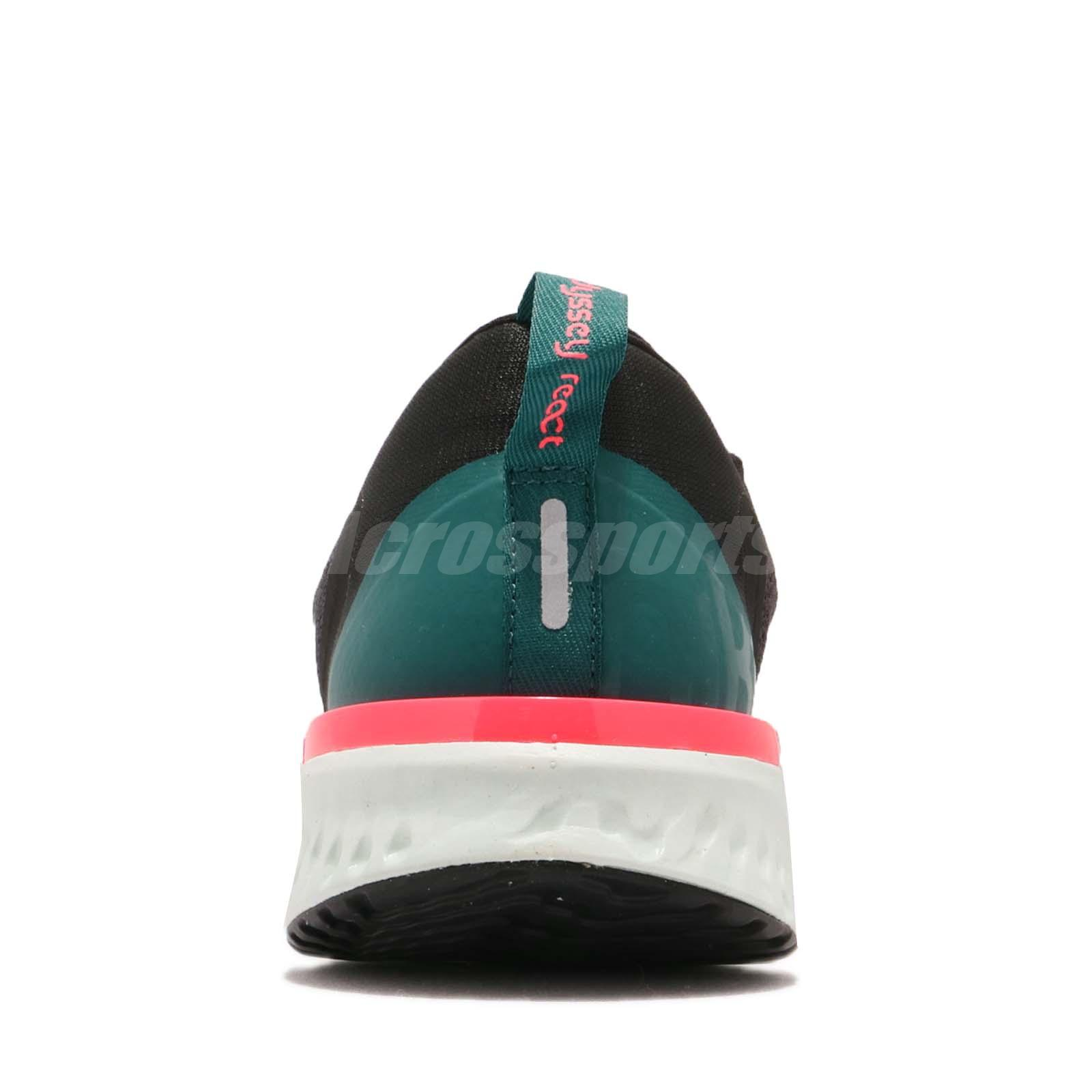 1ca9cfe24ddd Nike Odyssey React Thunder Grey Green Pink Men Running Shoes ...