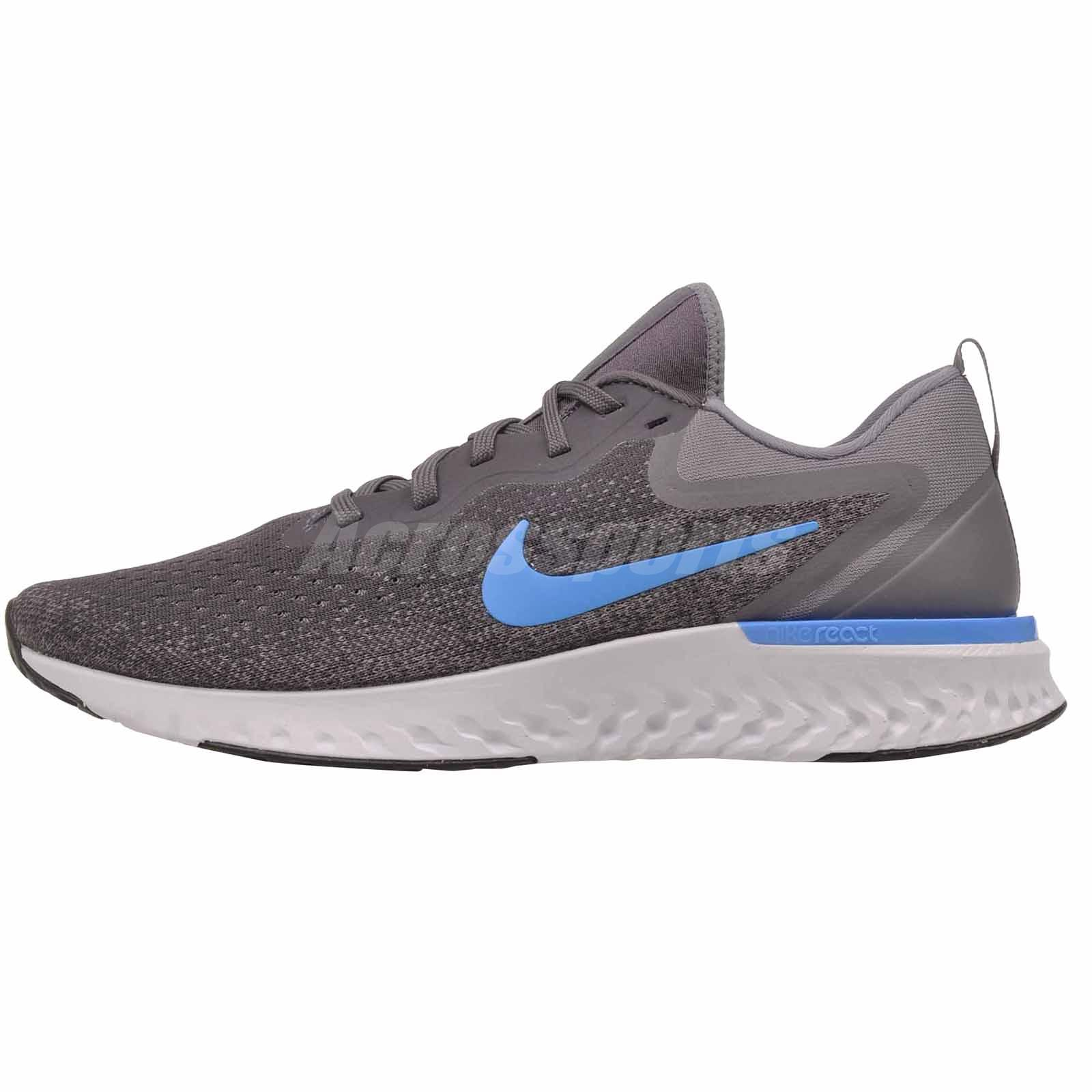 7d78eb3bc81 Nike Odyssey React Mens Running Shoes Grey Blue AO9819-008