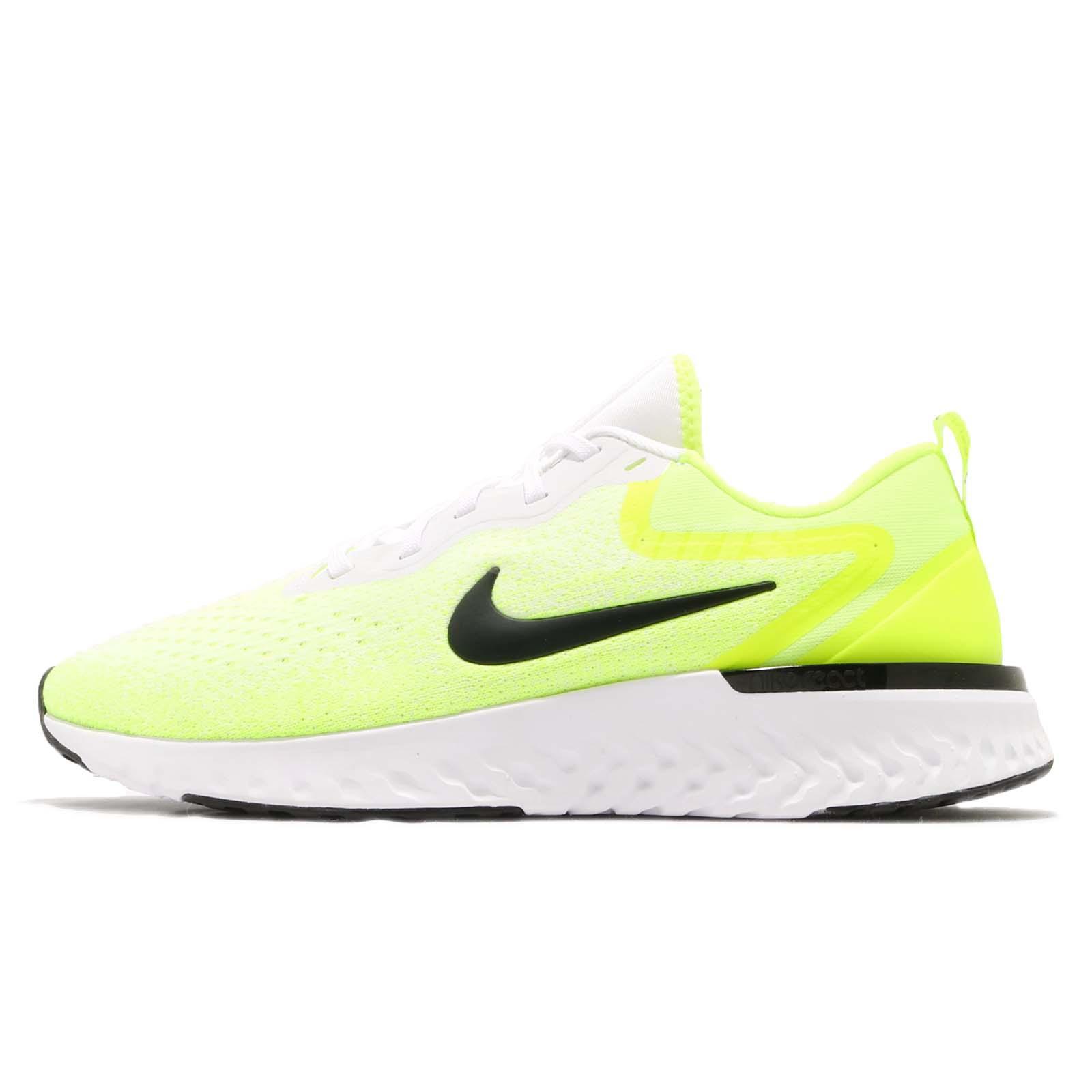 cda479fc0ae28 Nike Odyssey React White Black Volt Men Running Training Shoe Sneaker AO9819 -103