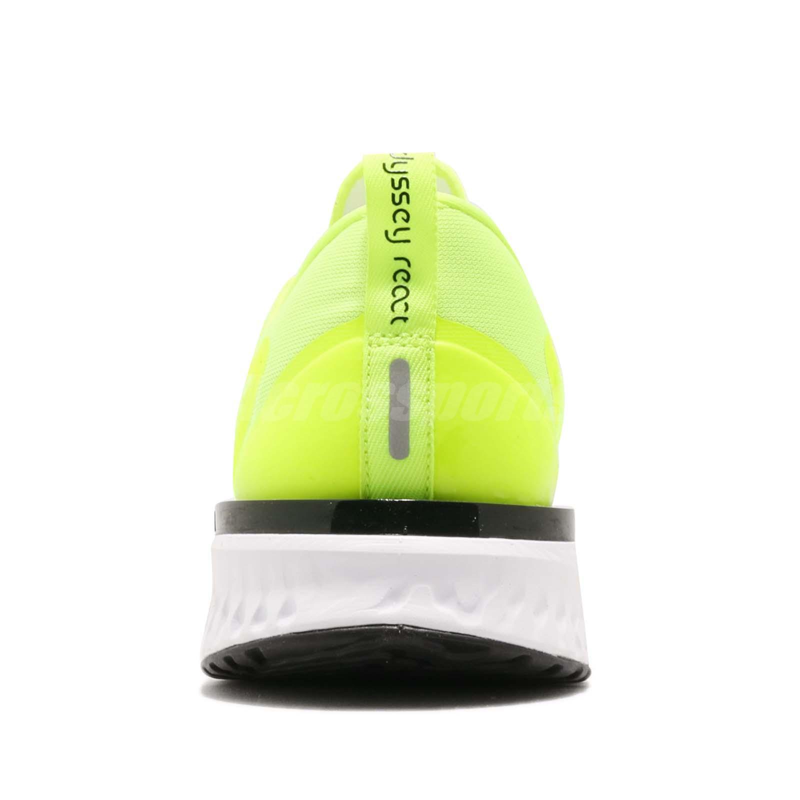 4e625519837e5 Nike Odyssey React White Black Volt Men Running Training Shoe ...