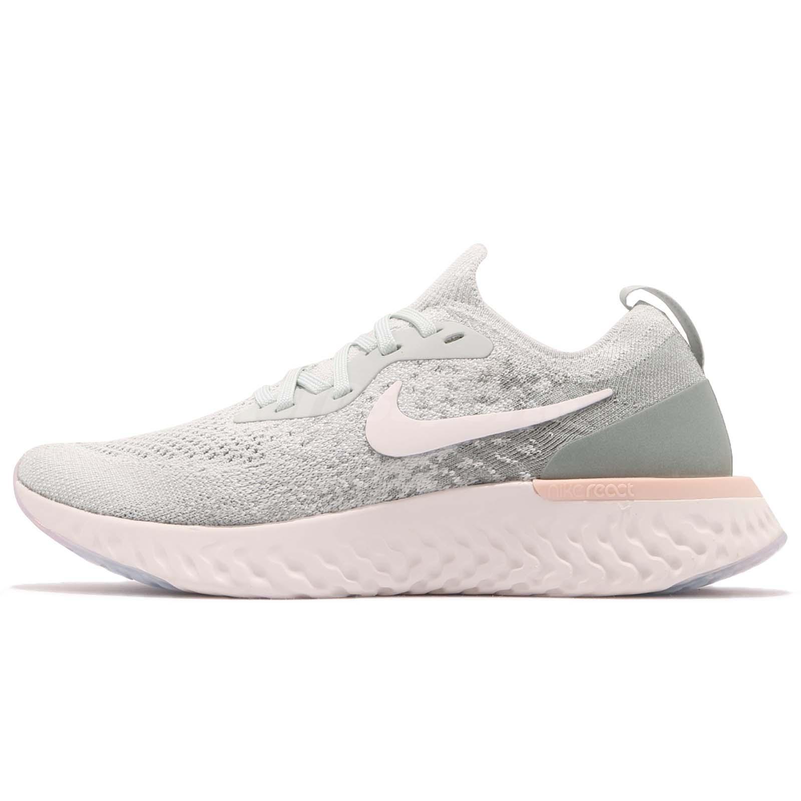 5e3abc6f24c6b5 Nike Wmns Epic React Flyknit Mica Green Women Running Shoes Sneakers AQ0070 -009