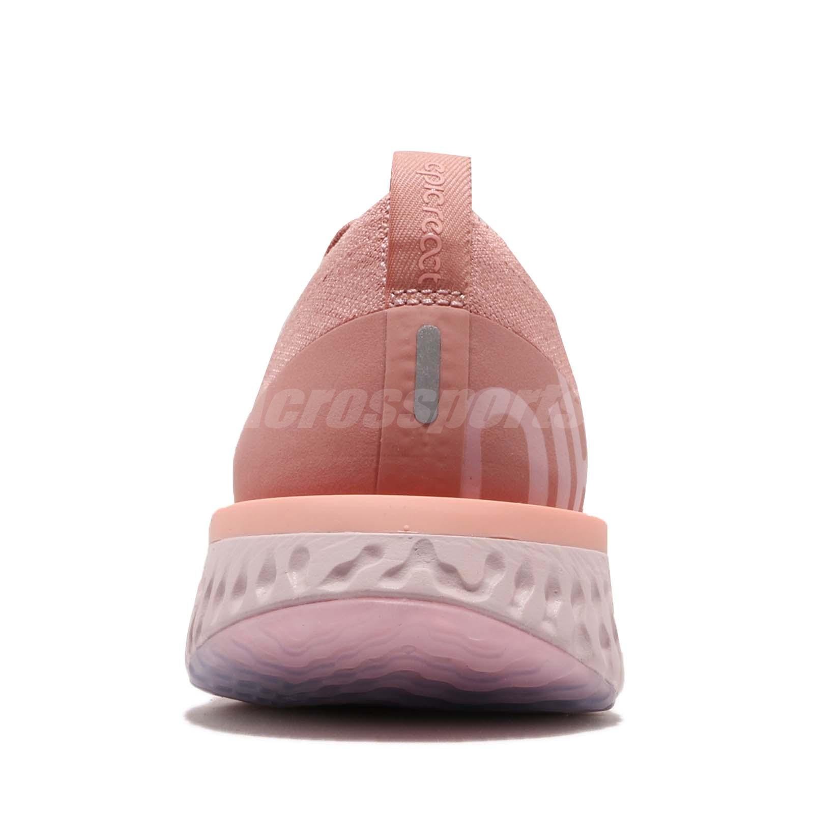 5f37249e6a90 Nike Wmns Epic React Flyknit Rust Pink Tint Women Running Shoes ...