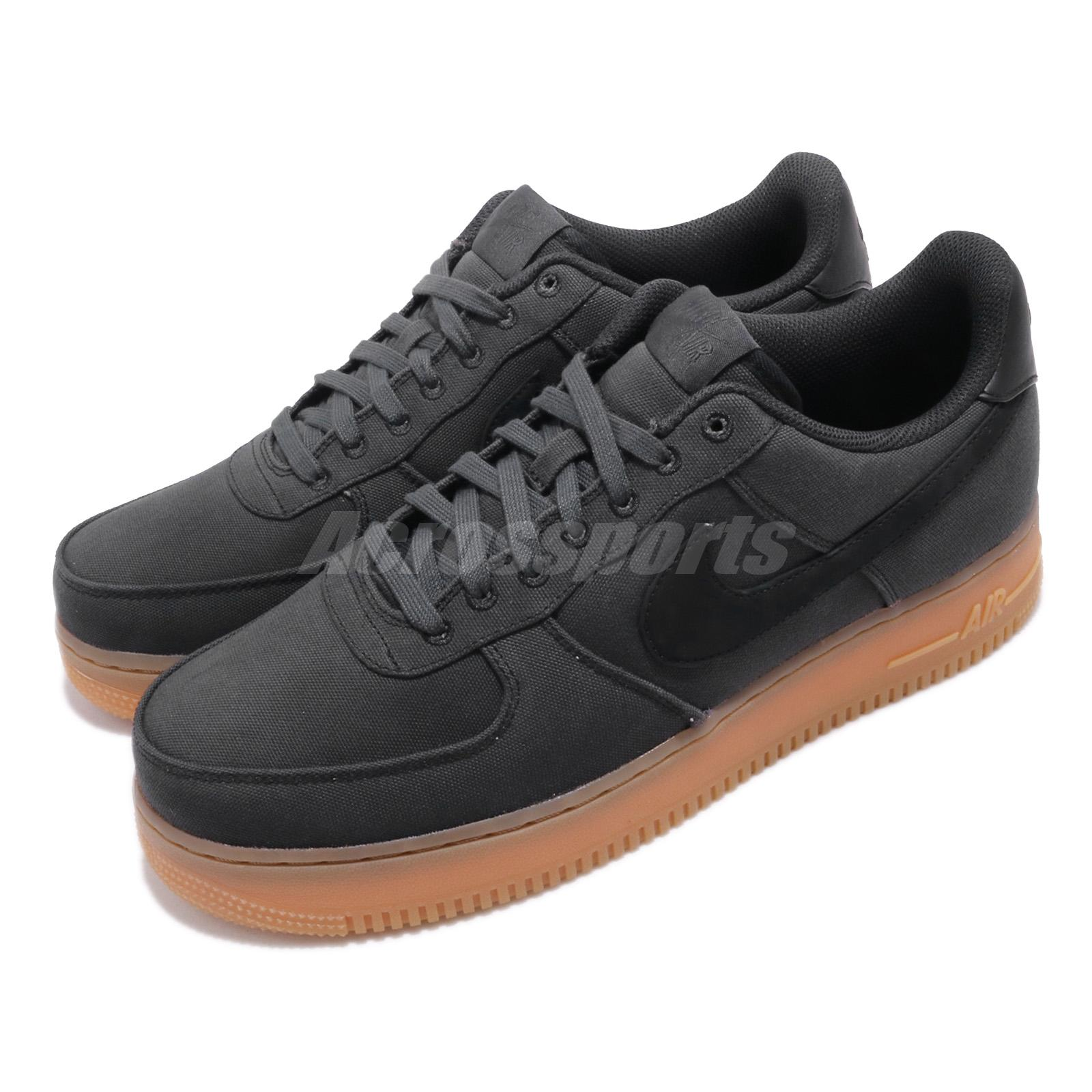pretty nice 855a0 a4c91 Details about Nike Air Force 1 07 LV8 Style AF1 Black Gum Brown Mens Shoes  Sneakers AQ0117-002