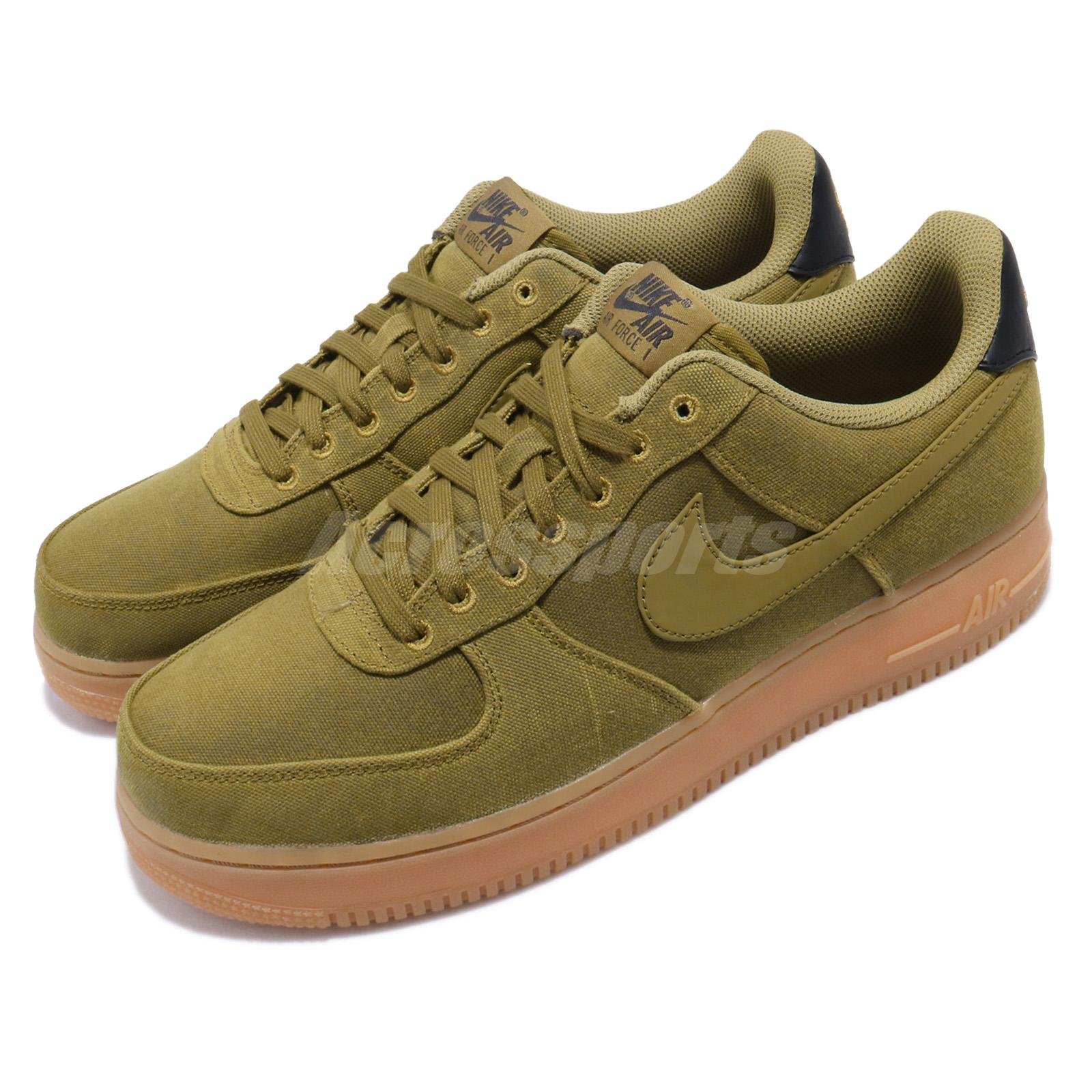 online retailer 2dd92 bf7bb Details about Nike Air Force 1 07 LV8 Style Camper Green Gum Brown Mens AF1  Shoes AQ0117-300