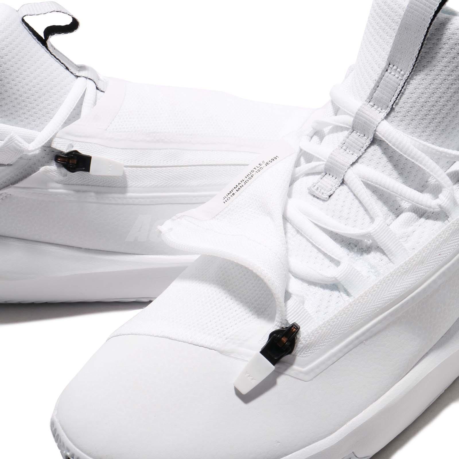 6c2f0b7b669f Nike Jordan Jumpman Hustle PF White Black Men Basketball Shoe ...