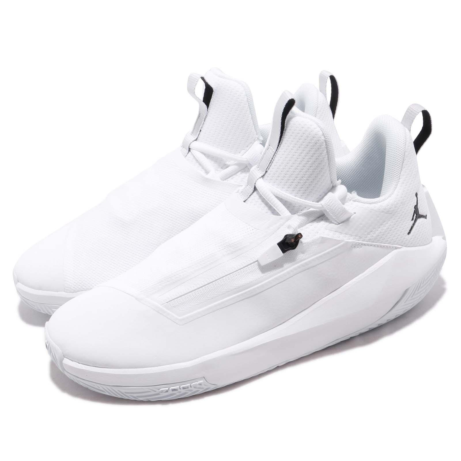 brand new bd6b1 389f5 Details about Nike Jordan Jumpman Hustle PF White Black Men Basketball Shoe  Sneaker AQ0394-102