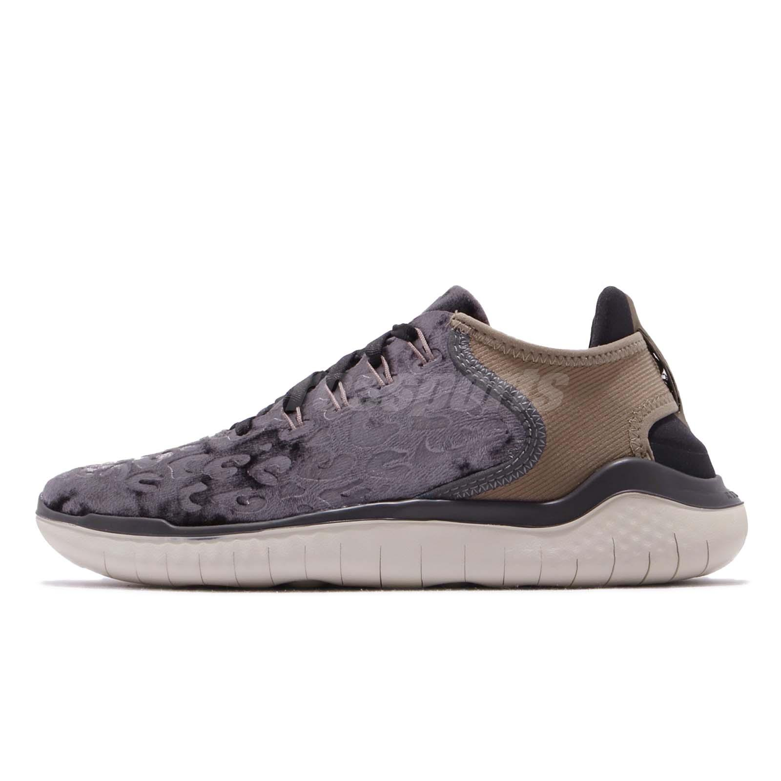 c80300a5b65 Nike Wmns Free RN 18 Wild Velvet Oil Grey Brown Women Running Shoes AQ0563- 020