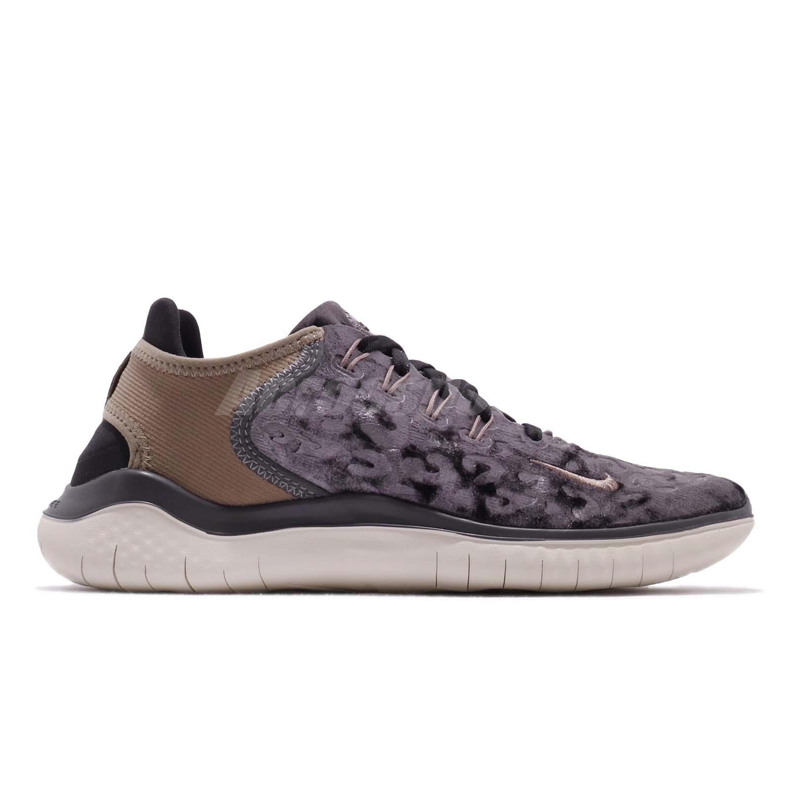 f5b27dd4ac776 Nike Wmns Free RN 18 Wild Velvet Oil Grey Brown Women Running Shoes ...