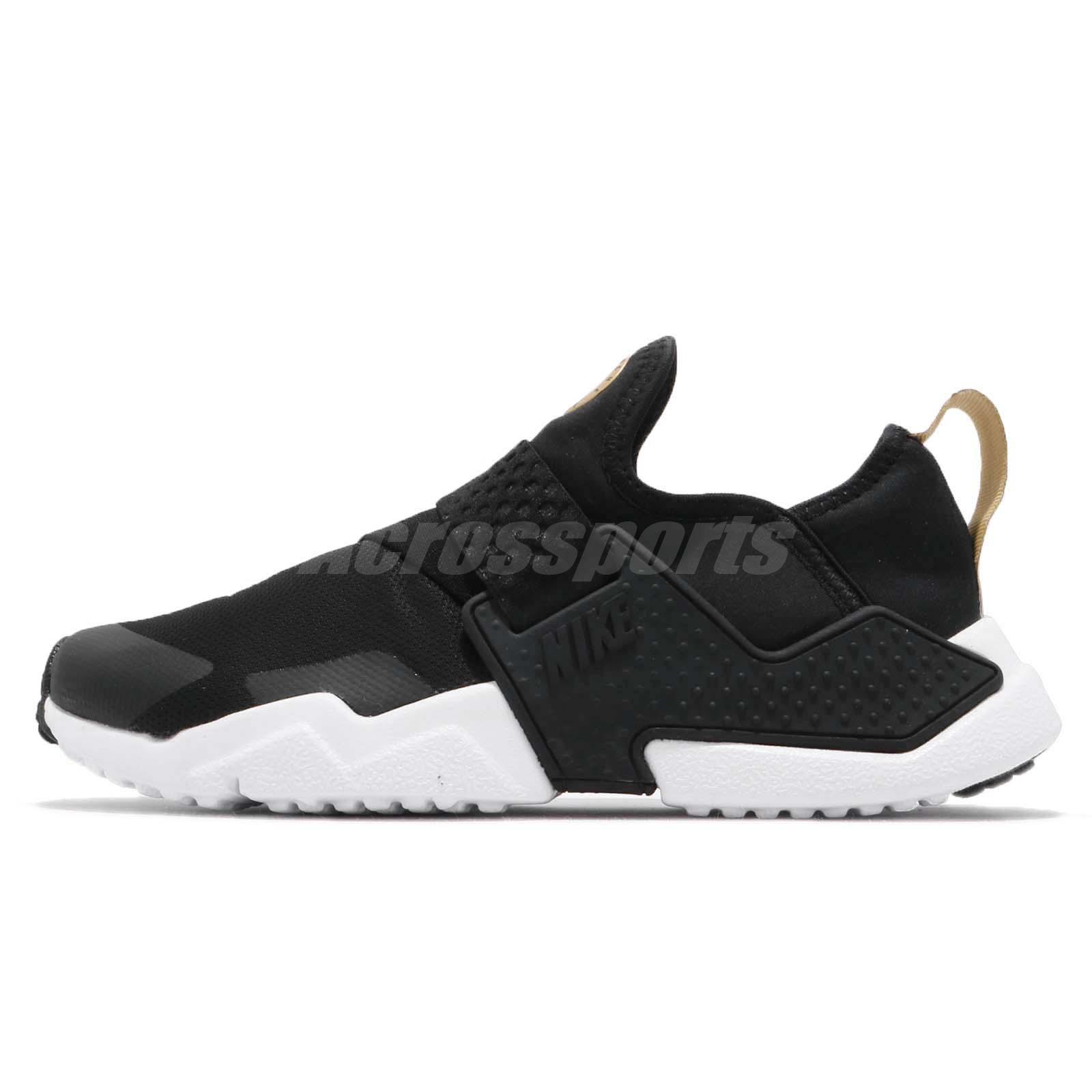 pretty nice aee68 547fe ... low price nike huarache extreme gs black white gold kid youth women  slip on aq0575 007