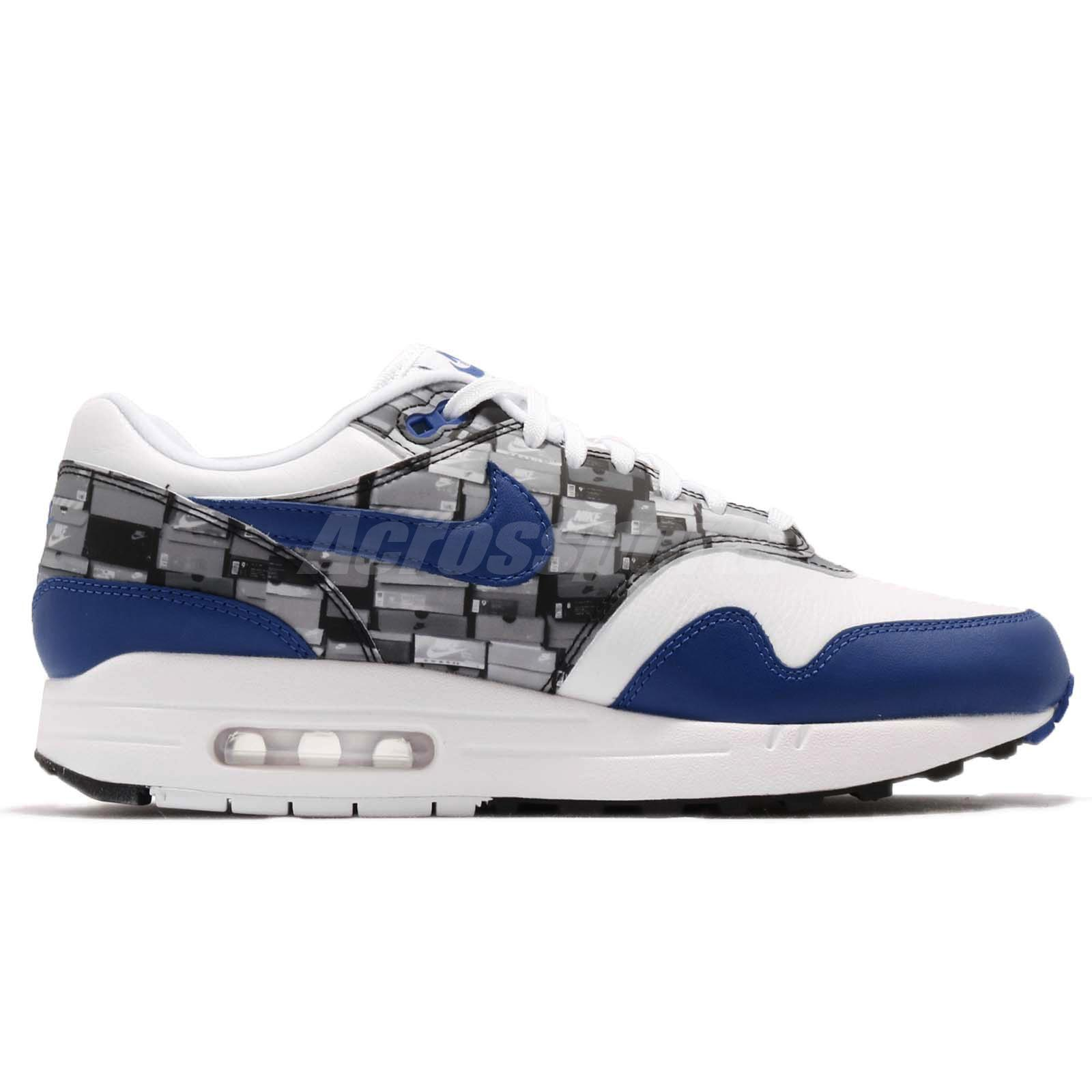 buy popular a6cea 100f0 Atmos X Nike Air Max 1 Print We Love Nike White Blue Royal Mens ...
