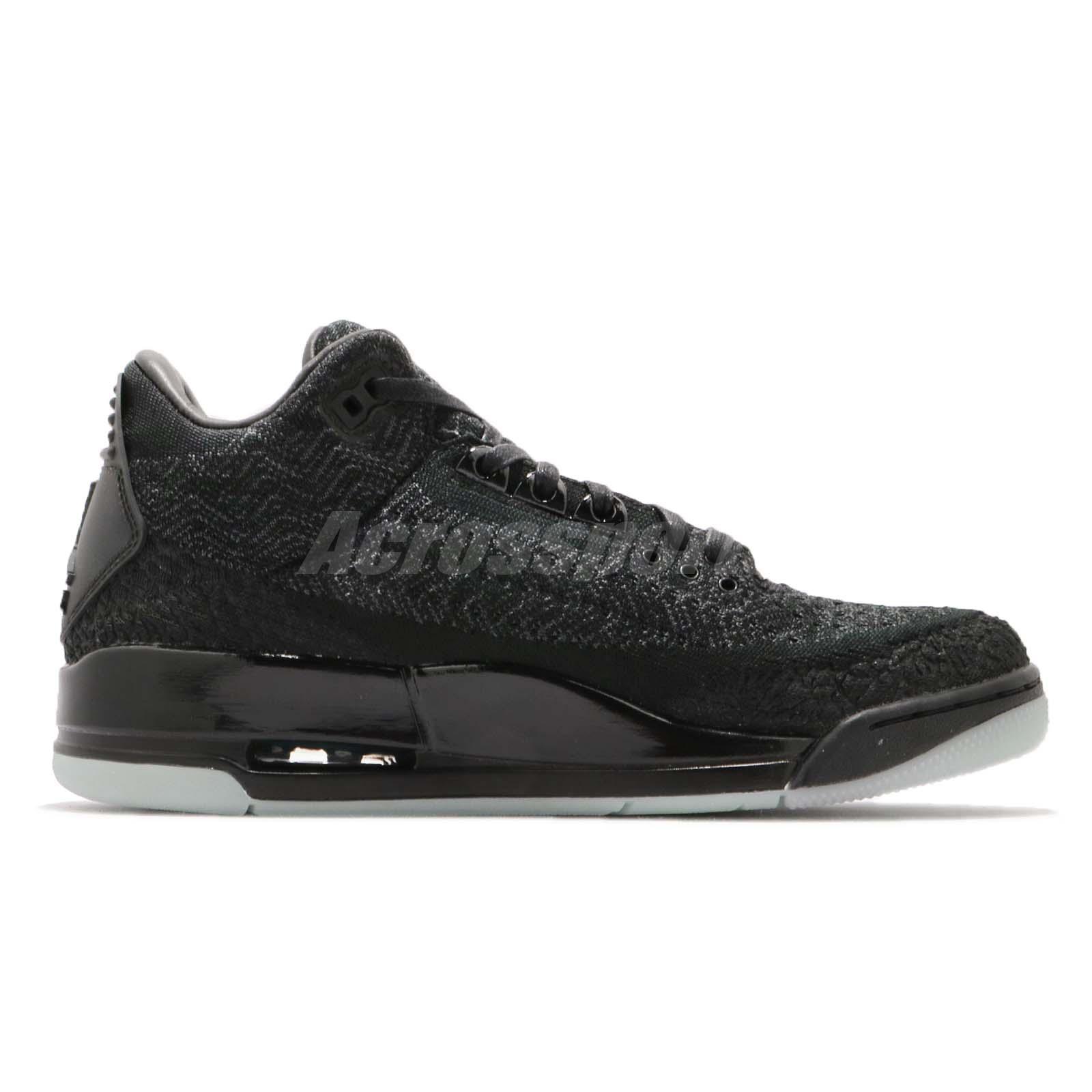 1bae5ca3700d Nike Air Jordan 3 Retro Flyknit Black Anthracite Glow In the Dark ...