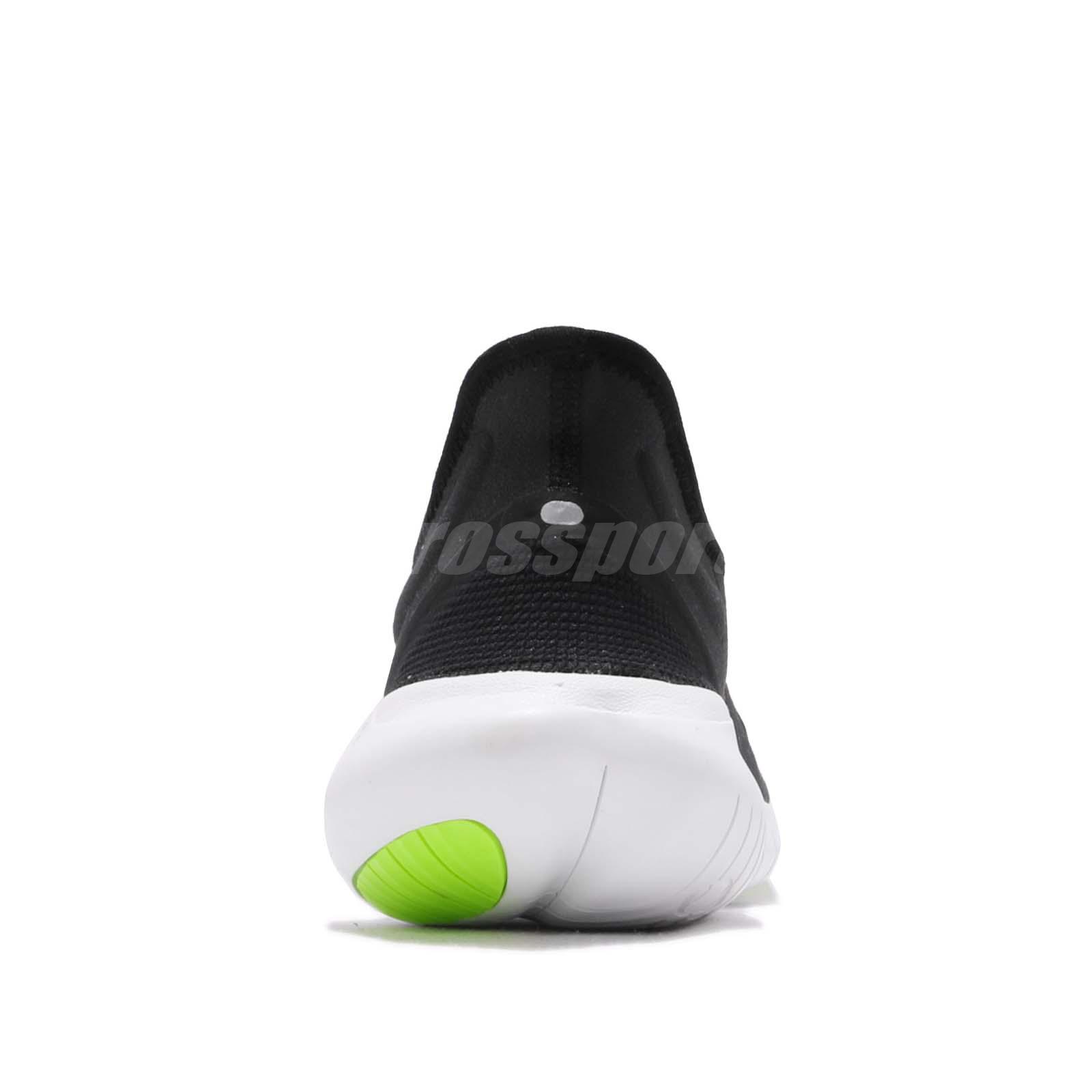 827b80eb645f Nike Free RN 5.0 Run Black White Volt Men Running Shoes Sneakers ...