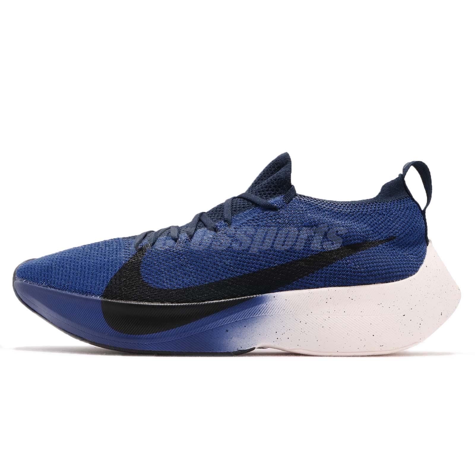 online store 60e6c 0ed21 Nike REACT Vapor Street Flyknit Big Swoosh Blue Black Running Shoes  AQ1763-400