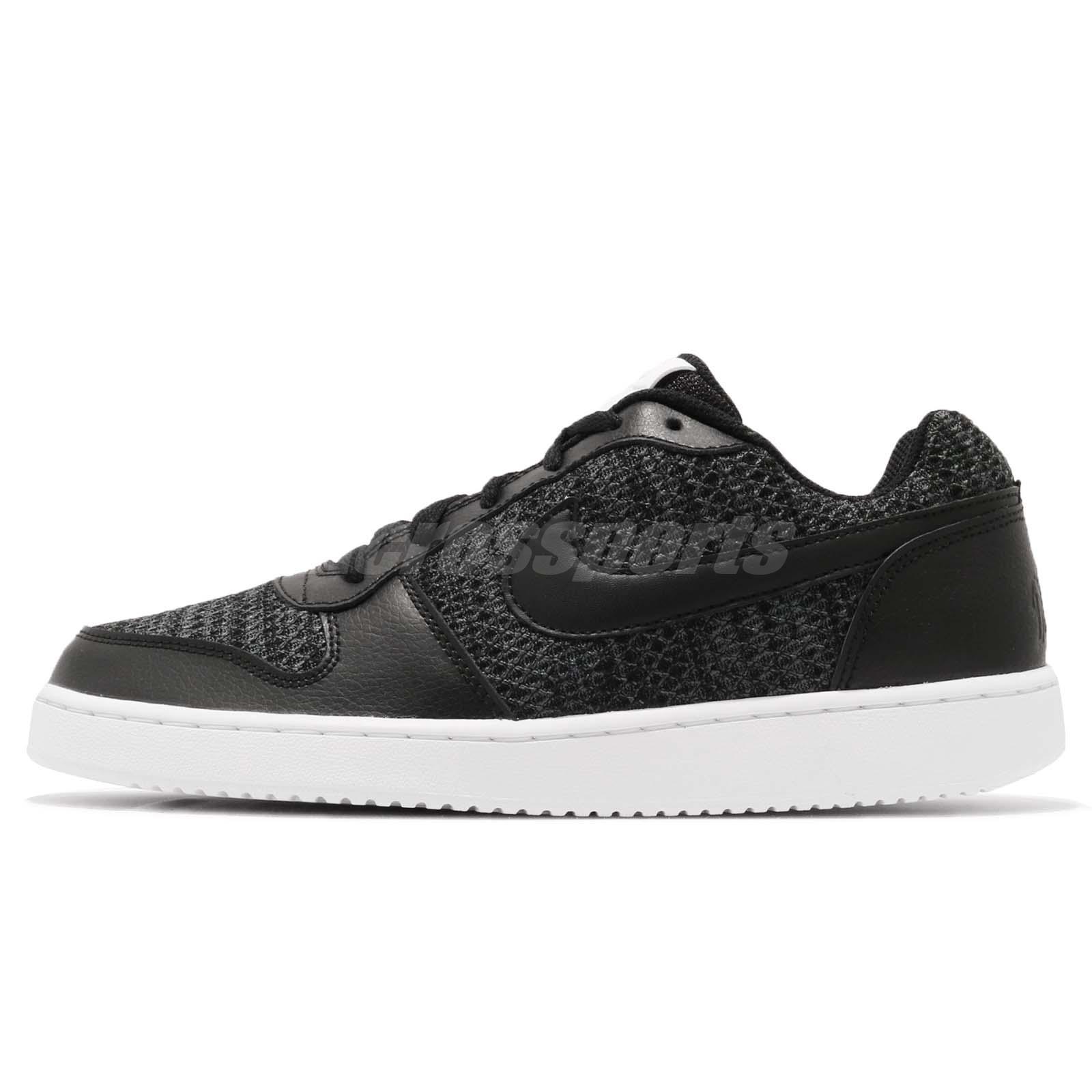 the best attitude 896a6 6dd7f Nike Ebernon Low PREM Premium Black White Men Casual Shoes Sneakers AQ1774 -001