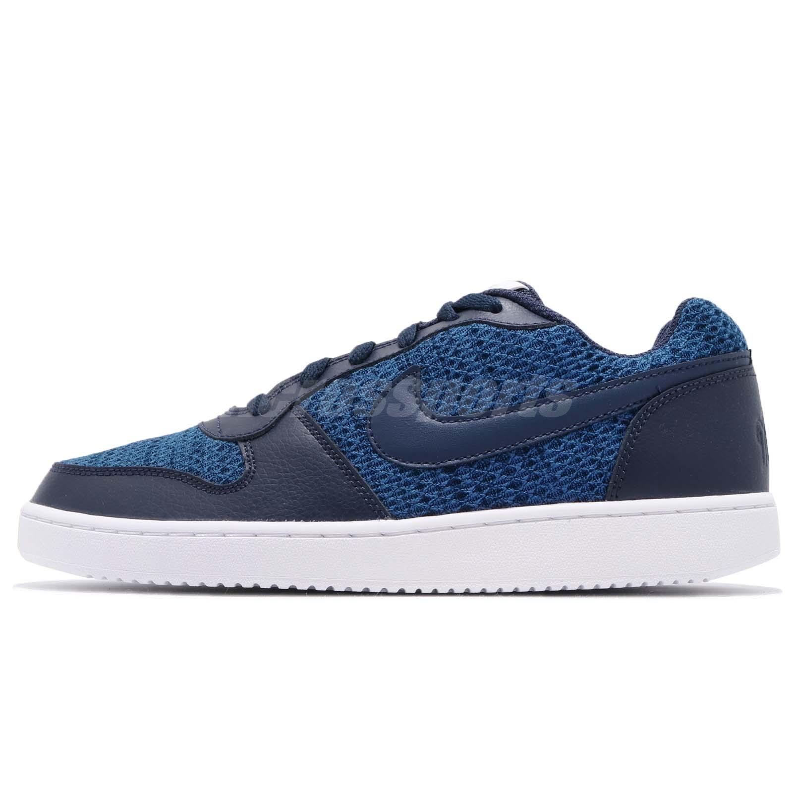 info for 0f2f2 378bc Nike Ebernon Low PREM Premium Blue Navy White Men Casual Shoe Sneaker AQ1774 -440