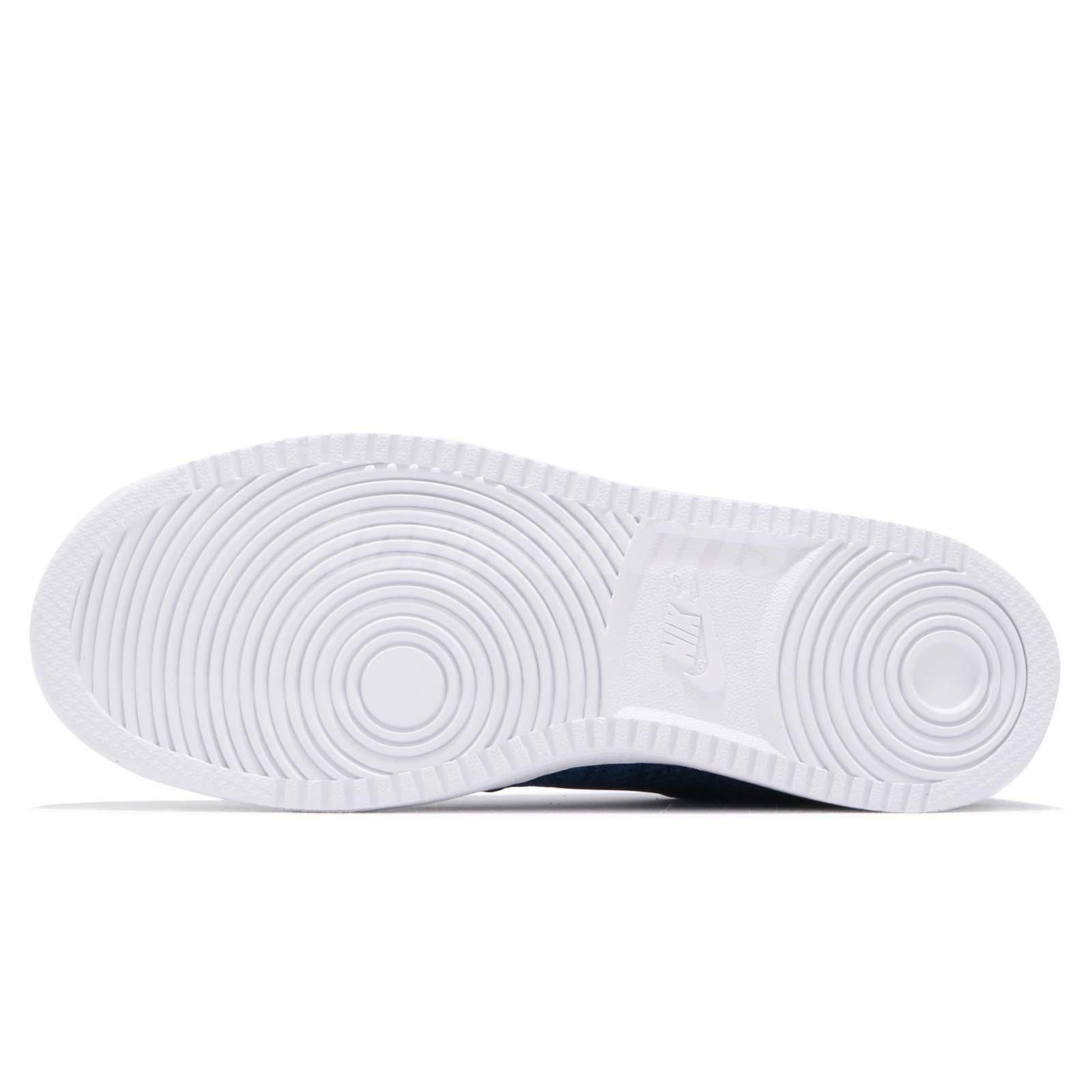 wholesale dealer b0e05 c880f Nike Ebernon Low PREM Premium Blue Navy White Men Casual Shoe ...