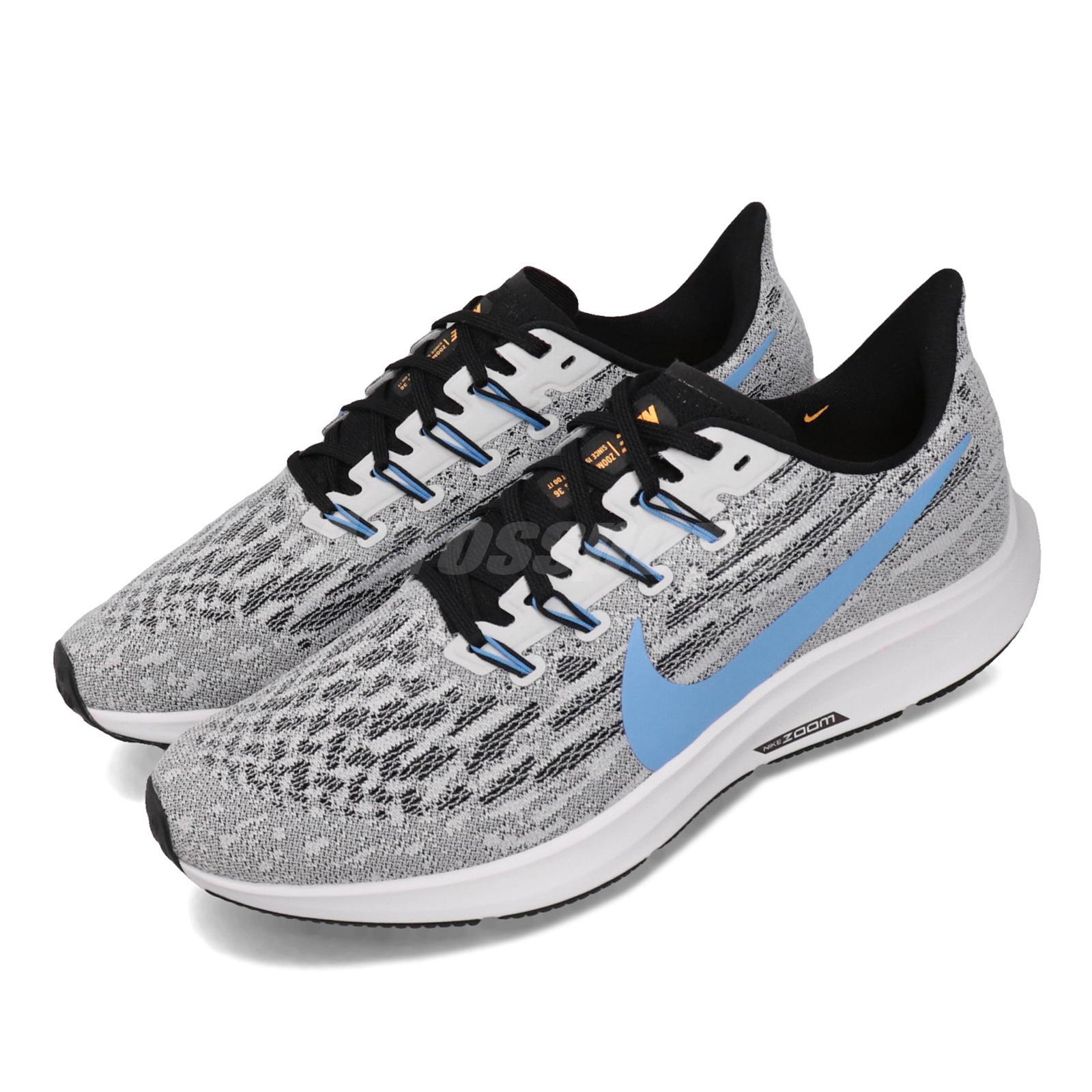 Подробные сведения о Nike Air Zoom Pegasus 36 Grey White Blue Black Men  Running Shoes AQ2203-101