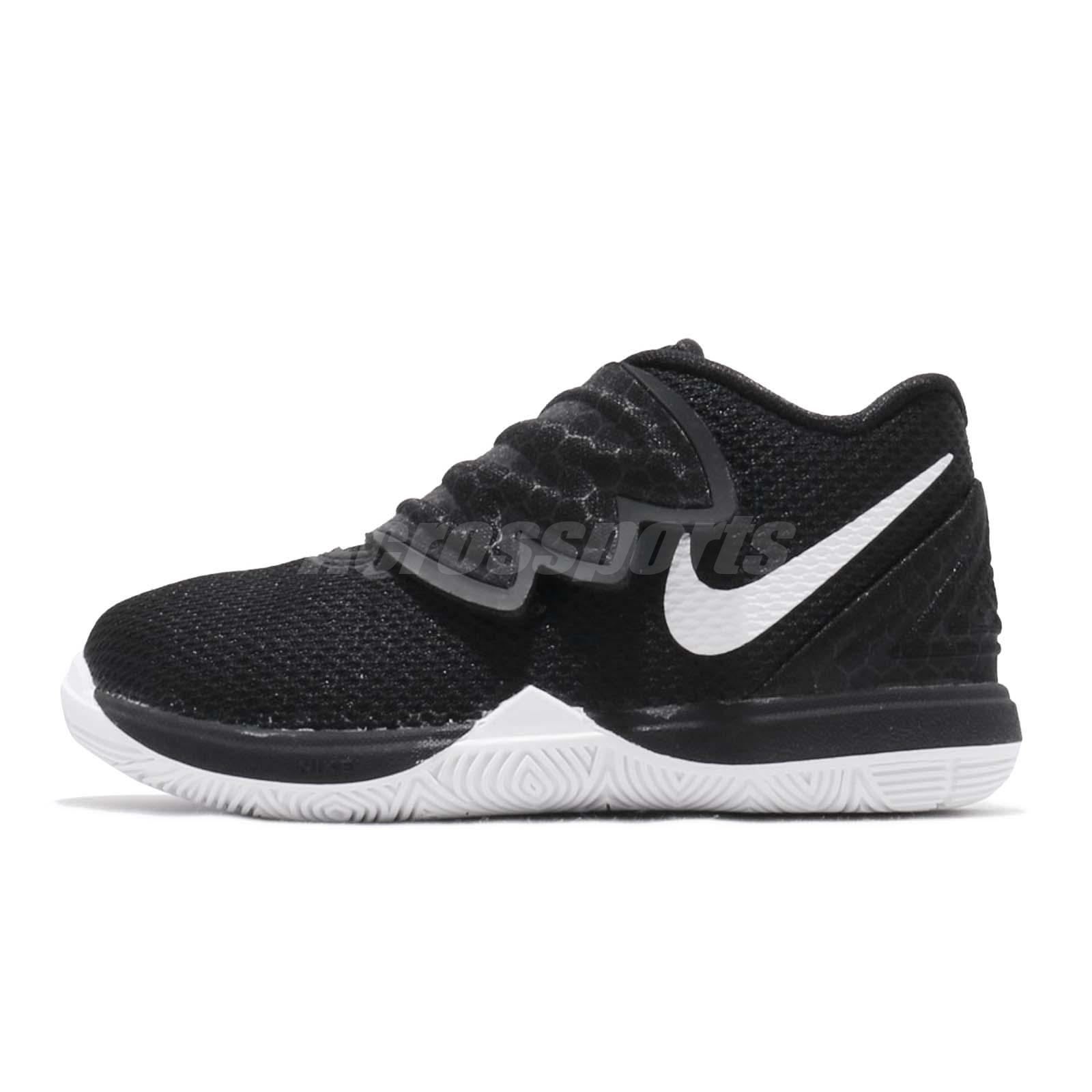 best sneakers 82ee6 5ea91 Nike Kyrie 5 TD Black White Irving Toddler Infant Shoes Baby Sneakers  AQ2459-901