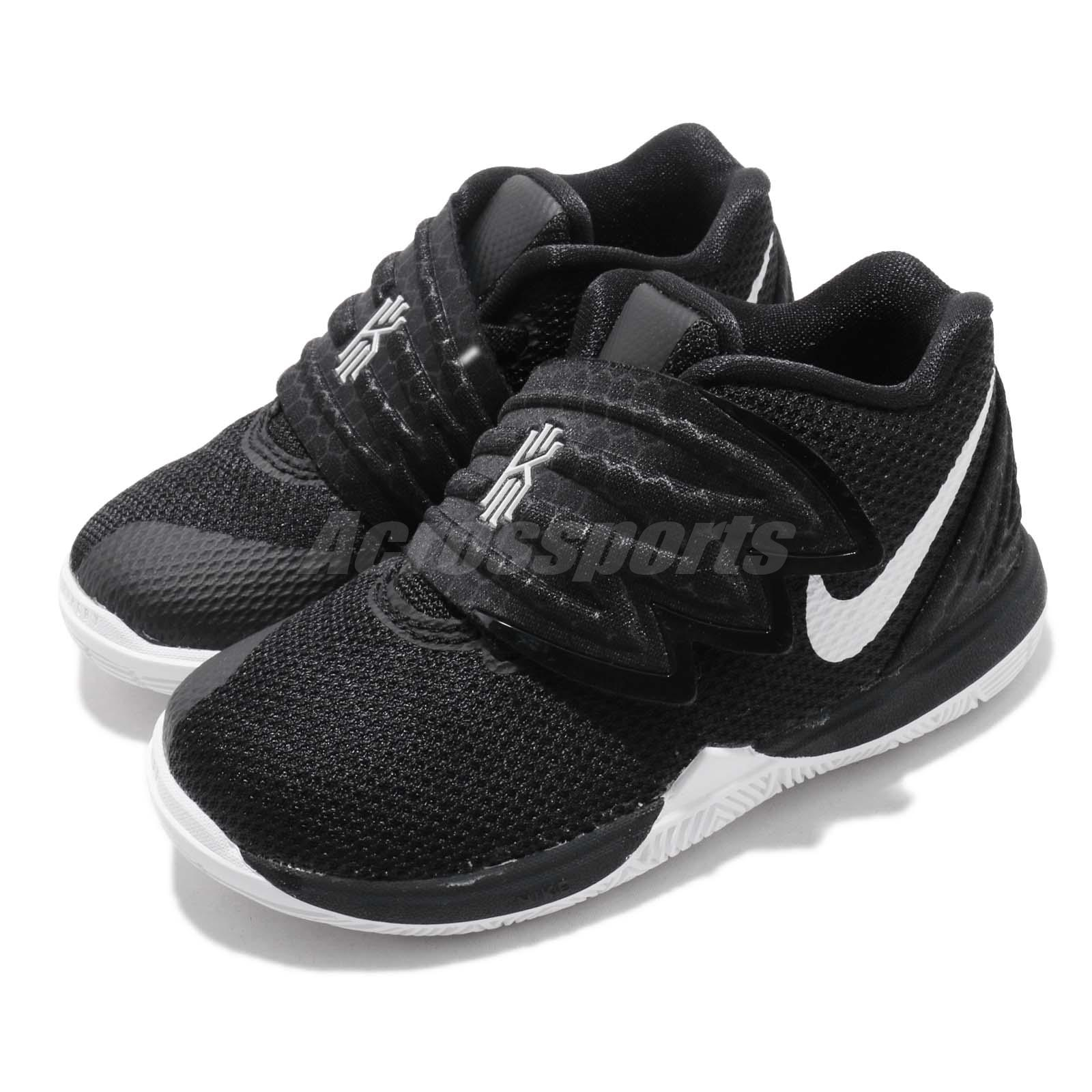 f8a34982274b Details about Nike Kyrie 5 TD Black White Irving Toddler Infant Shoes Baby  Sneakers AQ2459-901