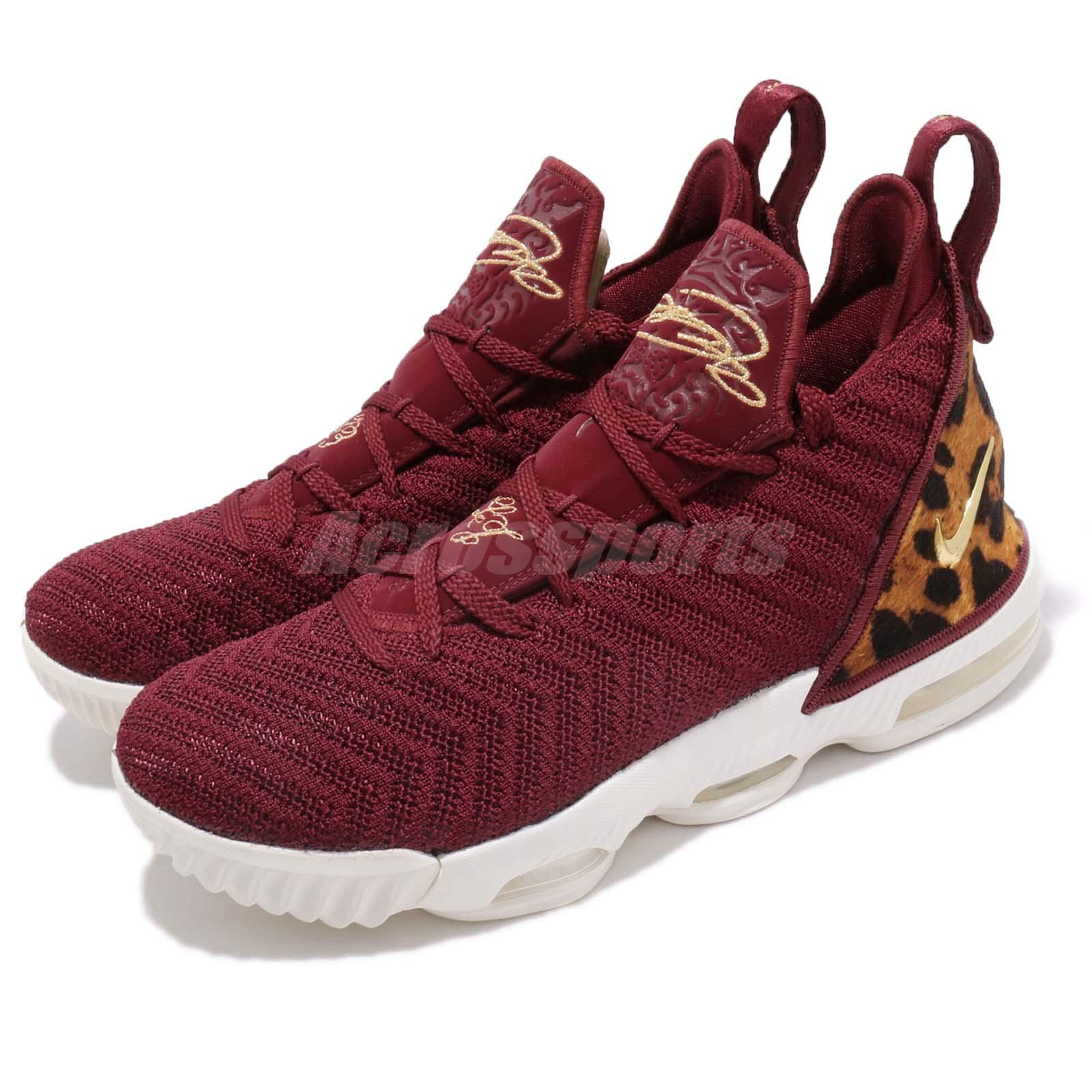 ae82de2326280 Details about Nike LeBron XVI GS 16 King James Red Gold Leopard Kid Youth  Women AQ2465-601