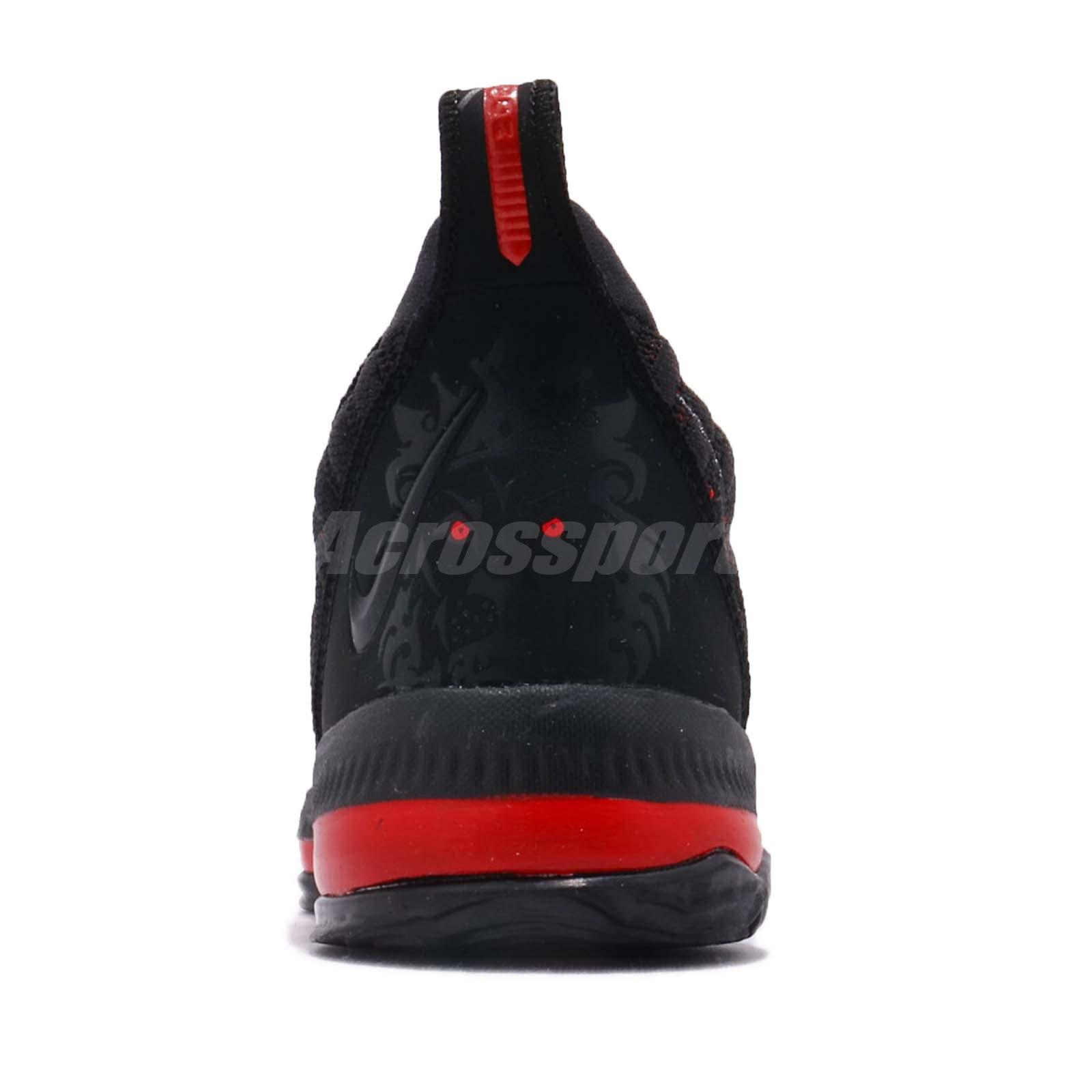 38cf6c5ae962 Nike LeBron XVI PS 16 James LBJ Fresh Bred Black Red Preschool Shoes ...
