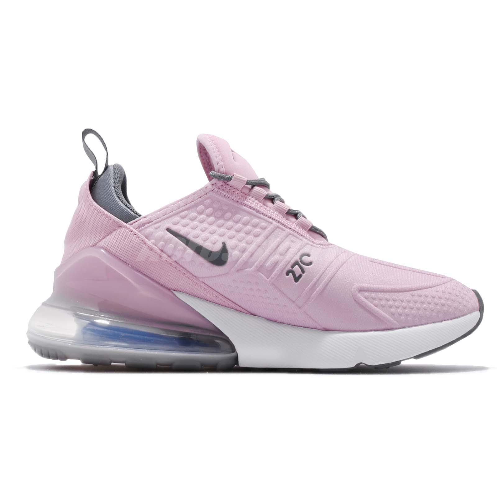 6f93f9ba8dc0 Nike Air Max 270 SE GS Pink Grey White Kid Youth Women Running Shoes ...