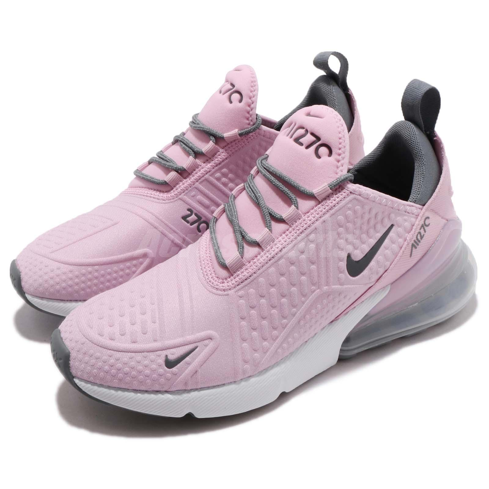 purchase cheap fbaf5 35228 Details about Nike Air Max 270 SE GS Pink Grey White Kid Youth Women  Running Shoes AQ2654-600