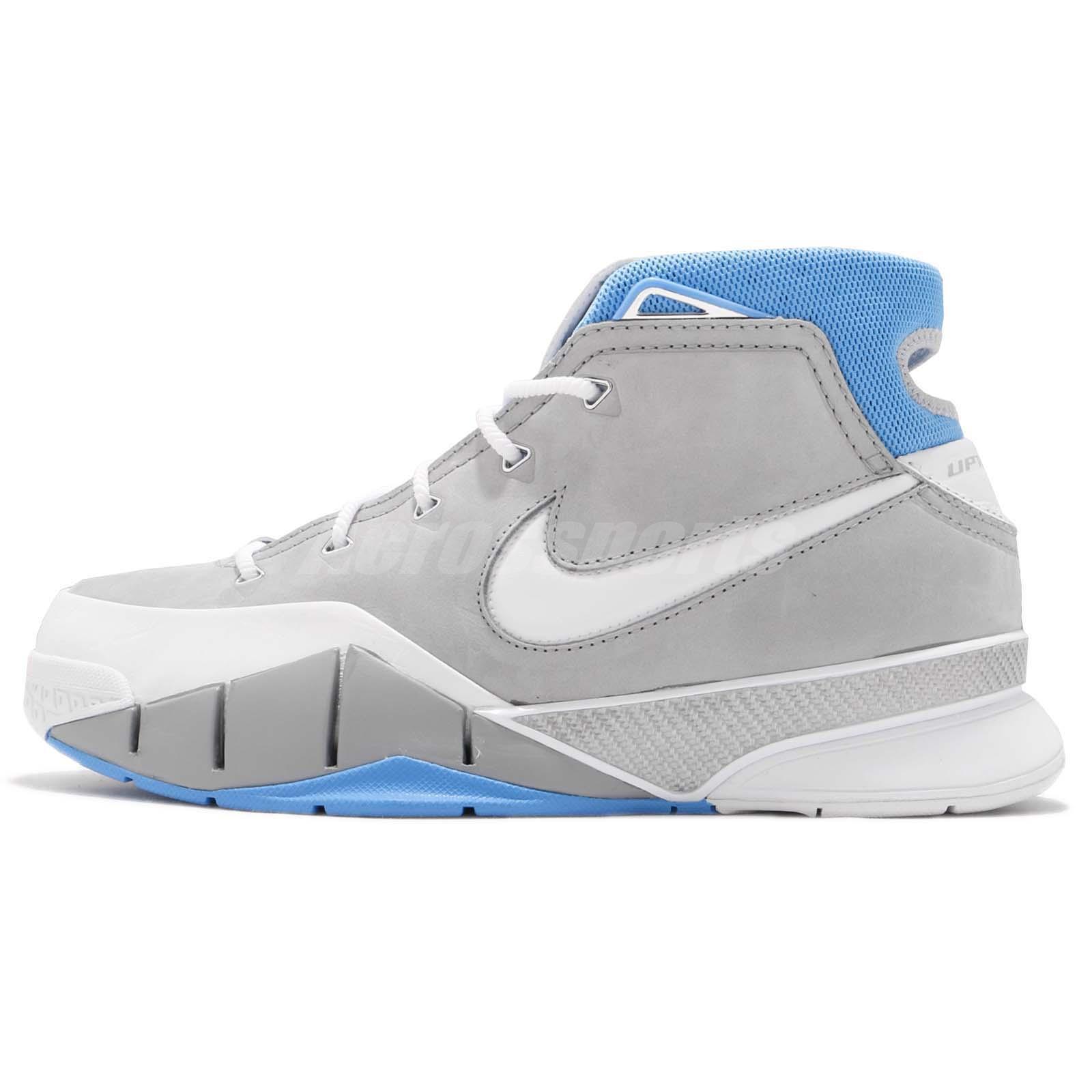 b286eb163e64 Nike Kobe 1 Protro MPLS Bryant Mamba Grey Blue Men Basketball Shoes  AQ2728-001