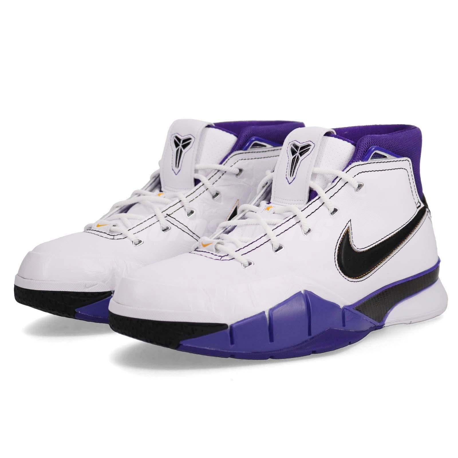 4d329fbe00a1 Nike Kobe 1 Protro 81 Points Game White Purple Black LA Lakers ...