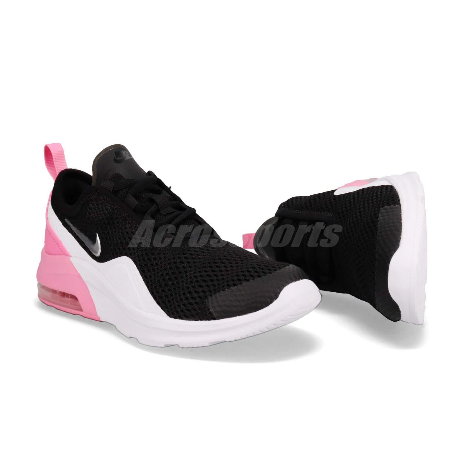 Details about Nike Air Max Motion 2 GS II Black Silver Pink White Kid Women Shoes AQ2745 001