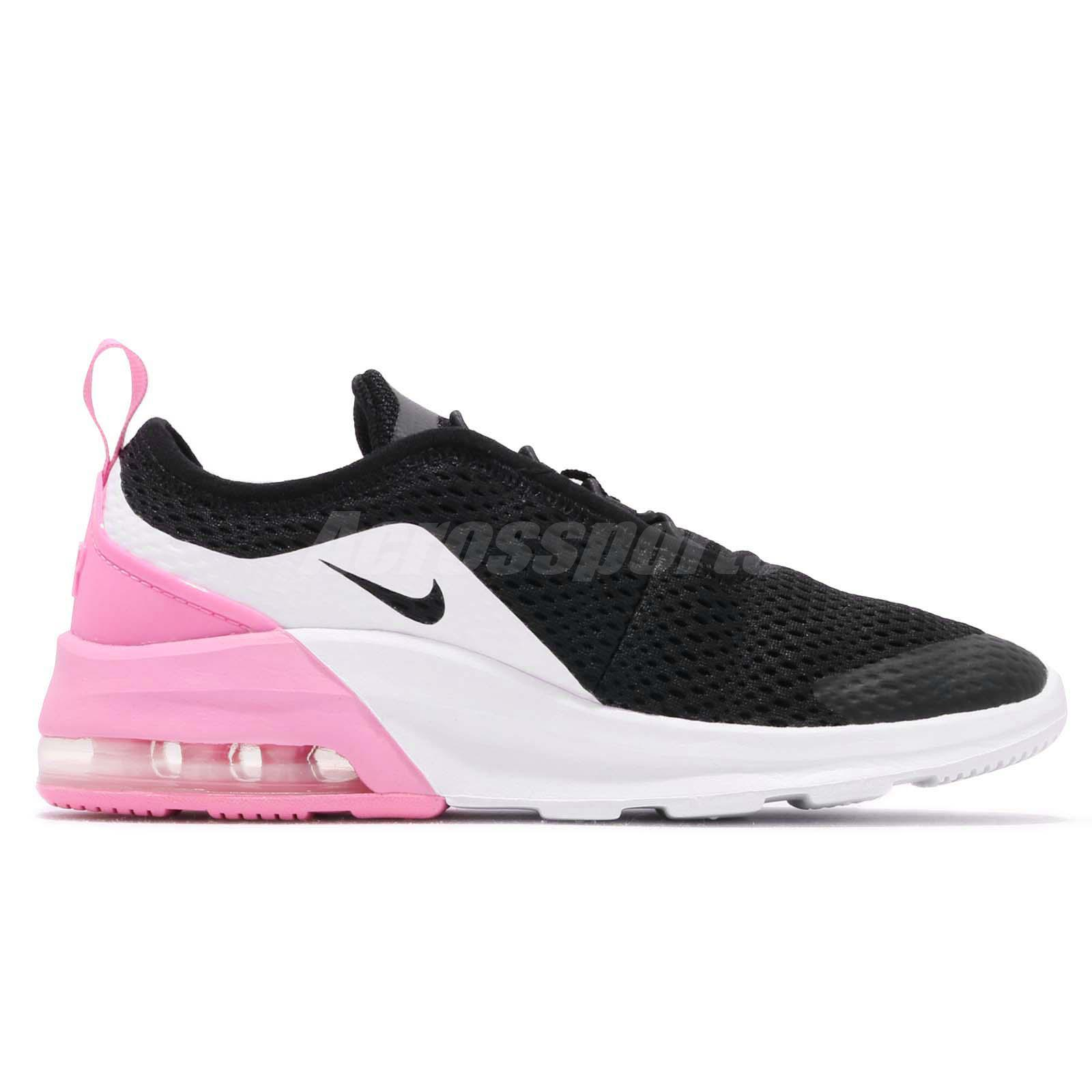 155bcf99c88e92 Details about Nike Air Max Motion 2 PSE Black Silver Pink Kid Preschool  Shoes AQ2747-001