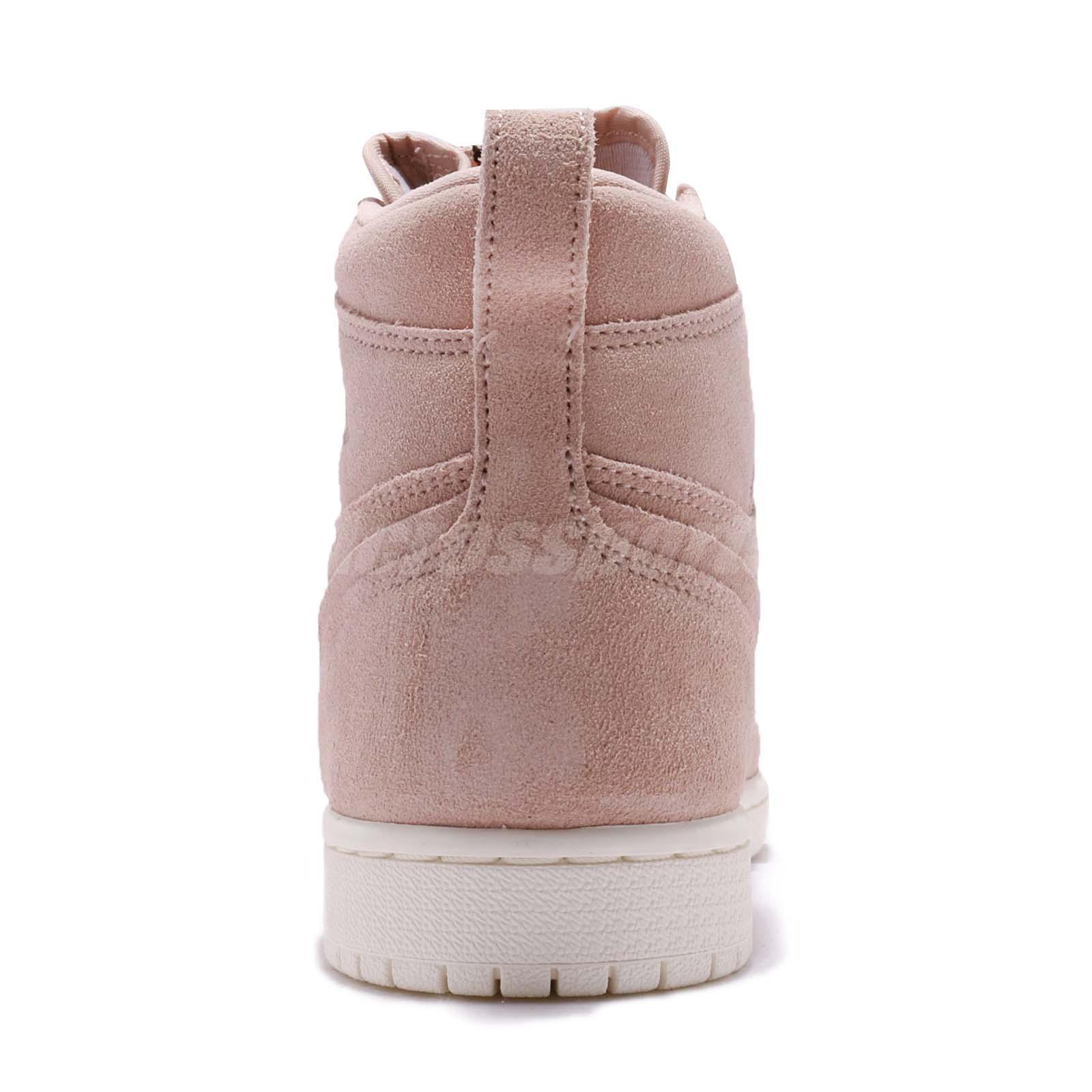 84e60159ed86 Nike Wmns Air Jordan 1 High Zip I Retro Particle Beige Women Shoes ...