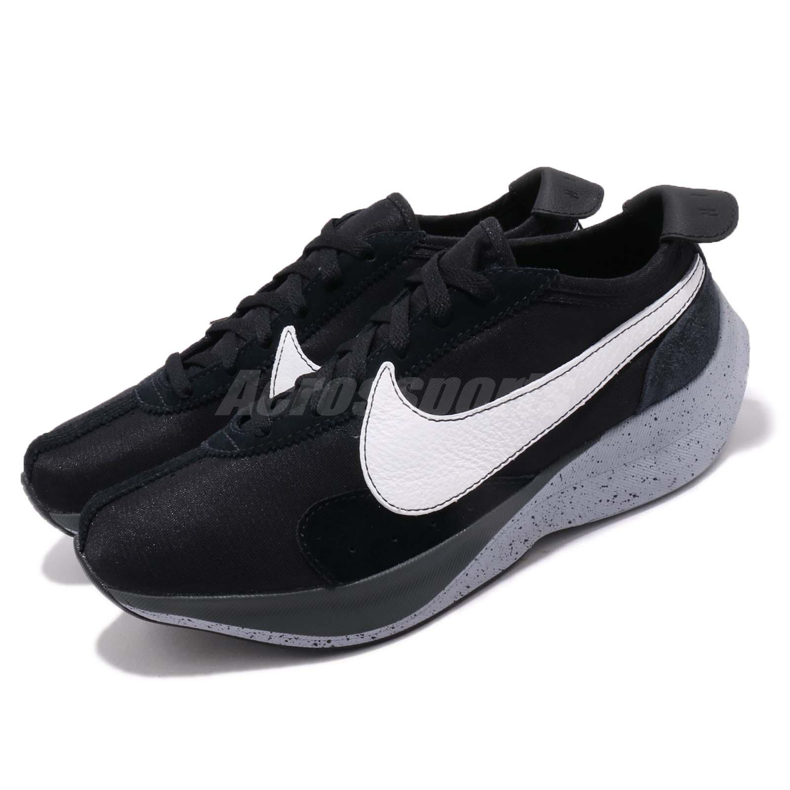 c217d22184f Details about Nike Moon Racer Black White Grey Mens Running Shoes Sneakers  AQ4121-001