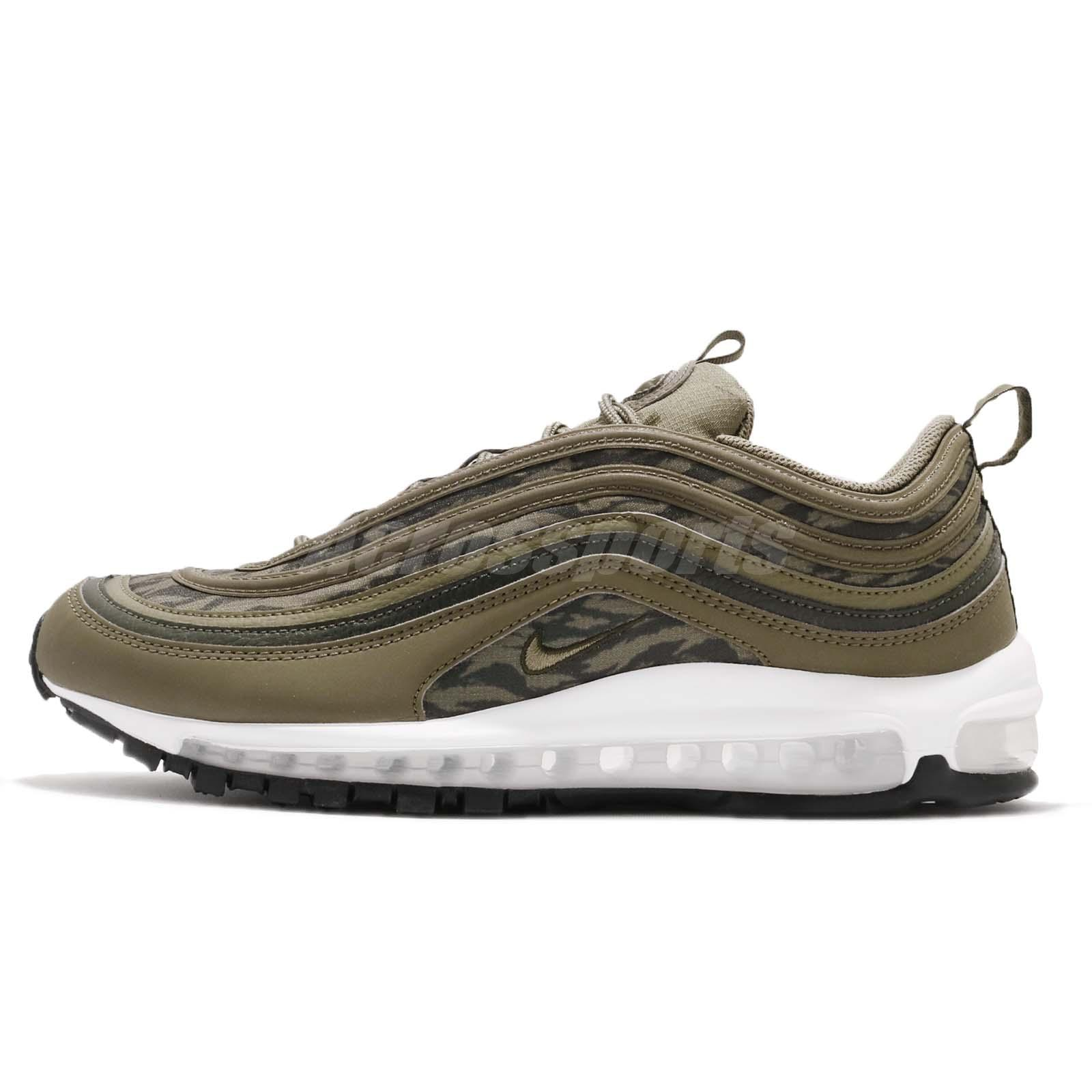 1740581774185 Nike Air Max 97 AOP Tiger Camo Olive Sequoia White Men Running Shoes  AQ4132-200
