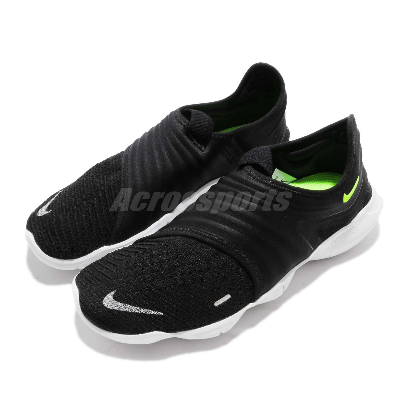 low priced 64c01 33a6c Details about Nike Free RN Flyknit 3.0 Black Volt White Men Running Shoes  Sneakers AQ5707-001
