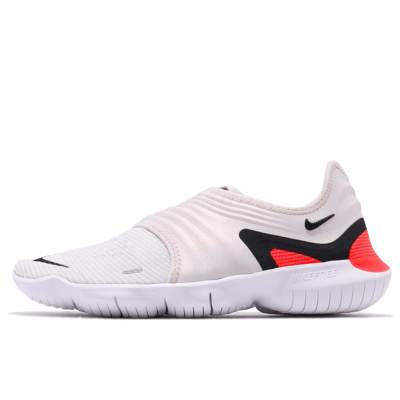 2ca992aa0005 Nike Free RN Flyknit 3.0 Grey Black White Red Men Running Shoes AQ5707-002