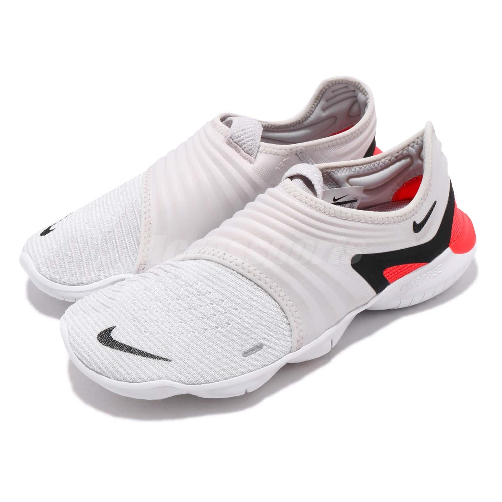 450fc645e447 Details about Nike Free RN Flyknit 3.0 Grey Black White Red Men Running  Shoes AQ5707-002