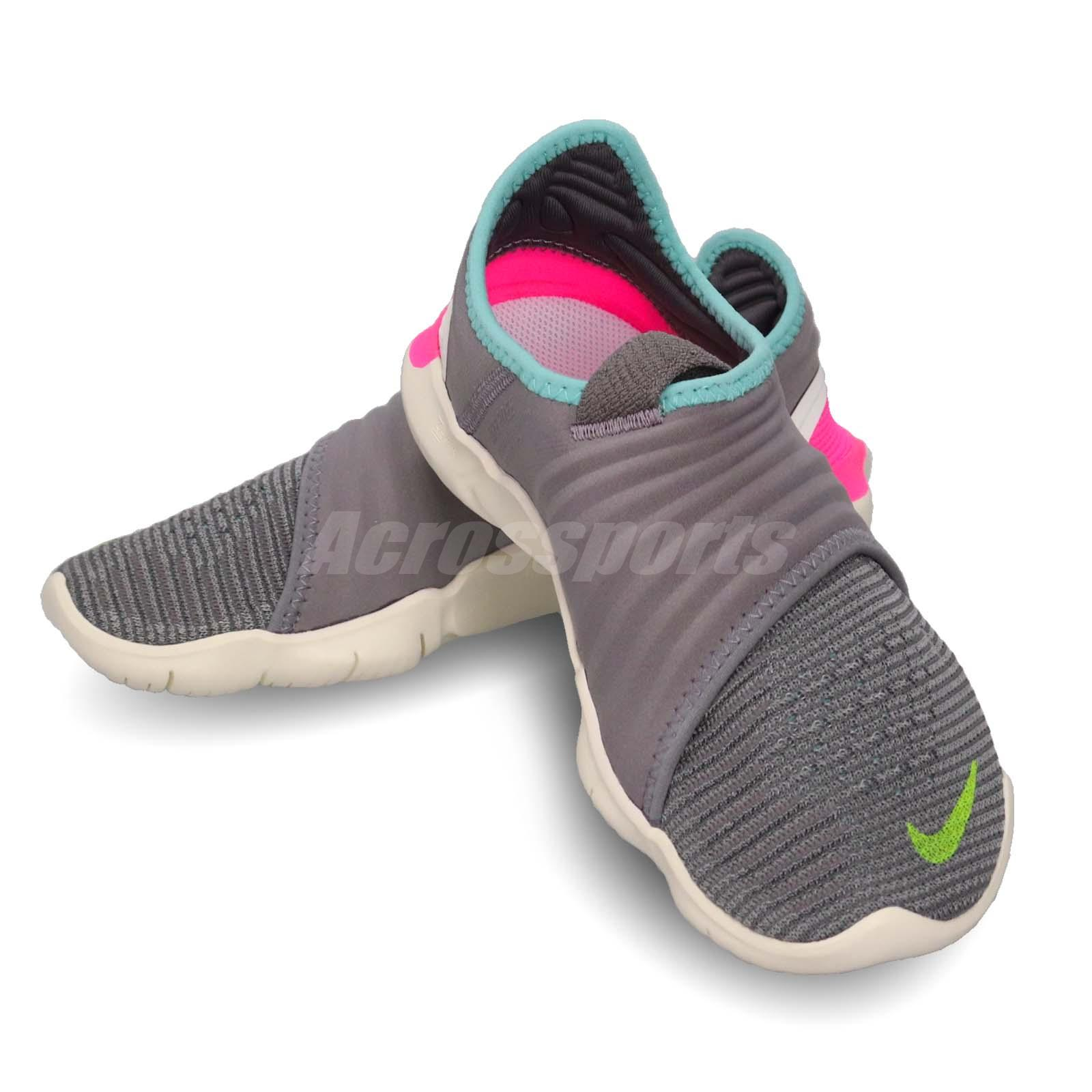 7ac3aeb77439c Details about Nike Wmns Free RN Flyknit 3.0 Grey Green Pink Women Running  Shoes AQ5708-002