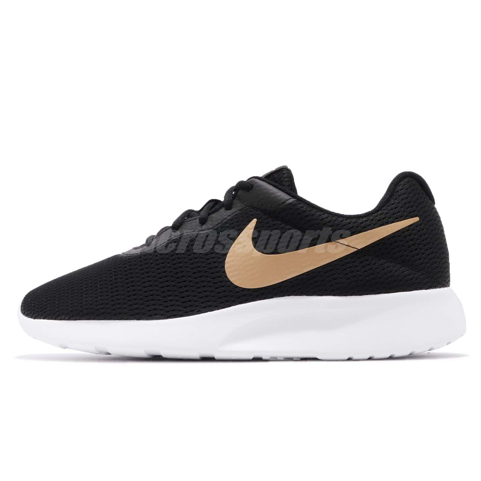 Nike Tanjun Black Gold White Men Running Casual Shoes Sneakers AQ7154-001 42cf9b14e1