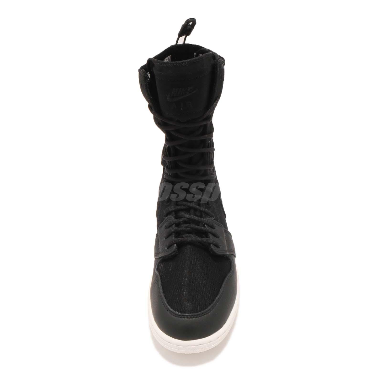 bc9509ac24d Nike Wmns Air Jordan 1 Explorer XX I AJ1 Hi Black Women Shoes Boots ...