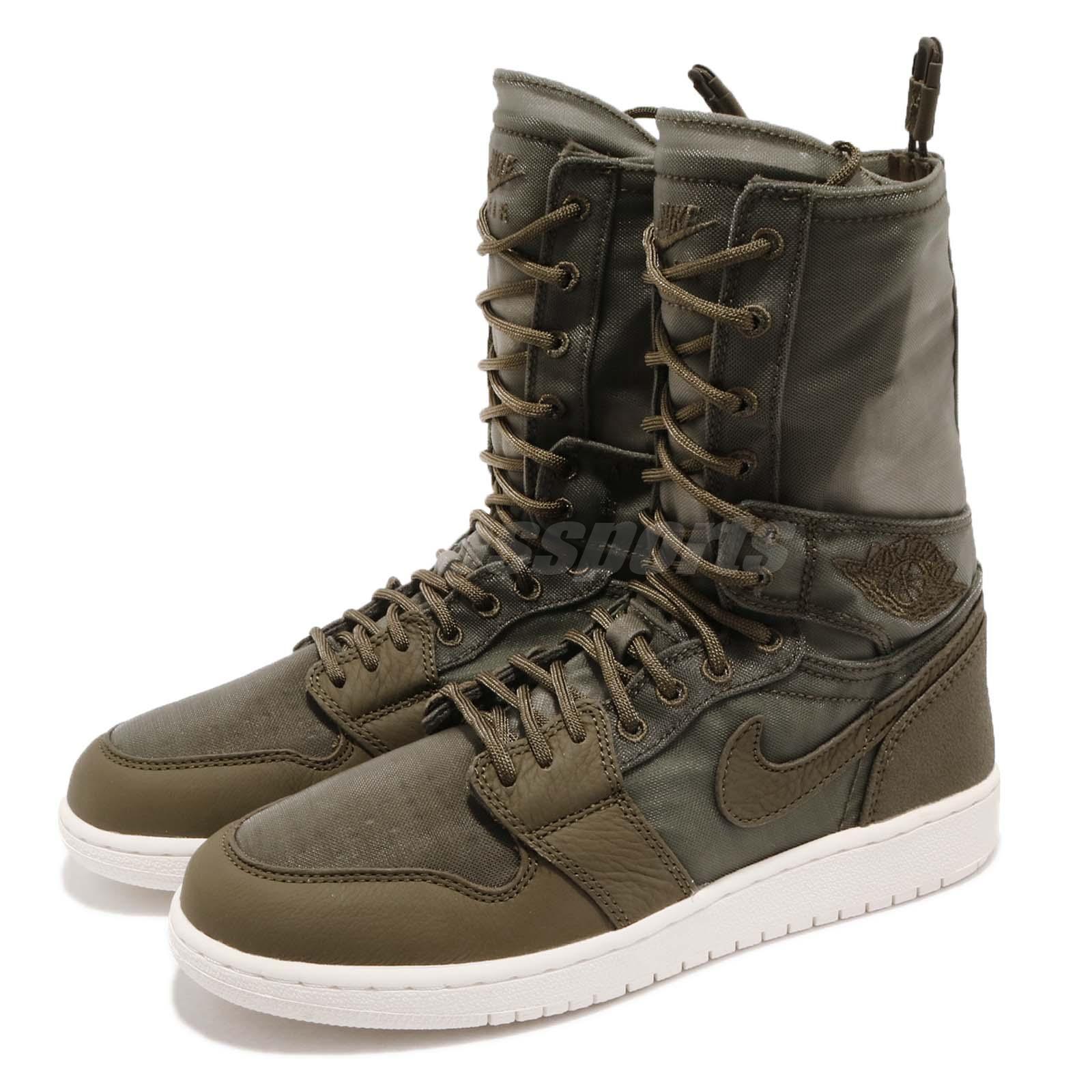 premium selection 7b7d3 04b4e Details about Nike Wmns Air Jordan 1 Explorer XX Olive Canvas Women Sneaker  Boots AQ7883-300