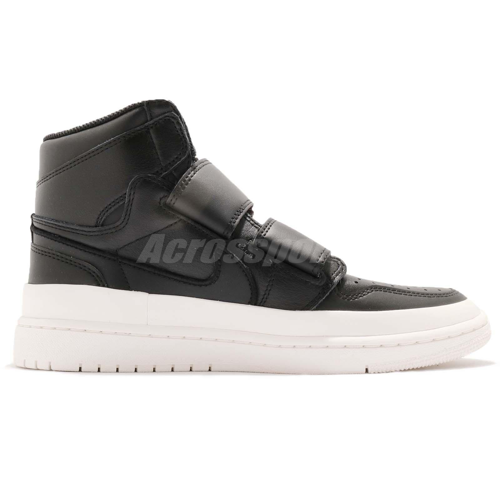 852e3d52fe1a09 Nike Air Jordan 1 RE Hi Double STRP Strap I AJ1 Black Men Casual ...