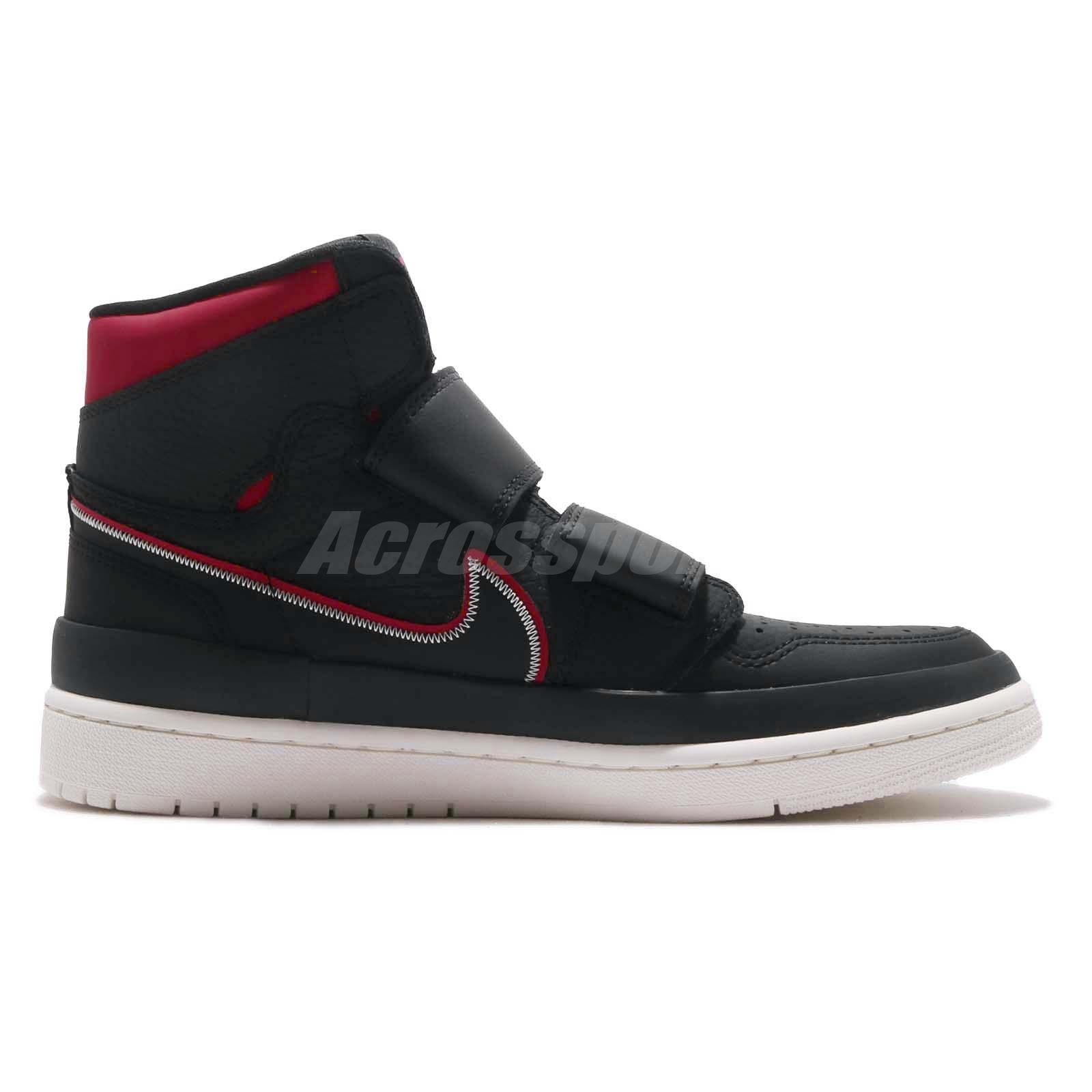 082d68c299349d Nike Air Jordan 1 RE Hi Double STRP Strap I AJ1 Black Red Men Shoes ...