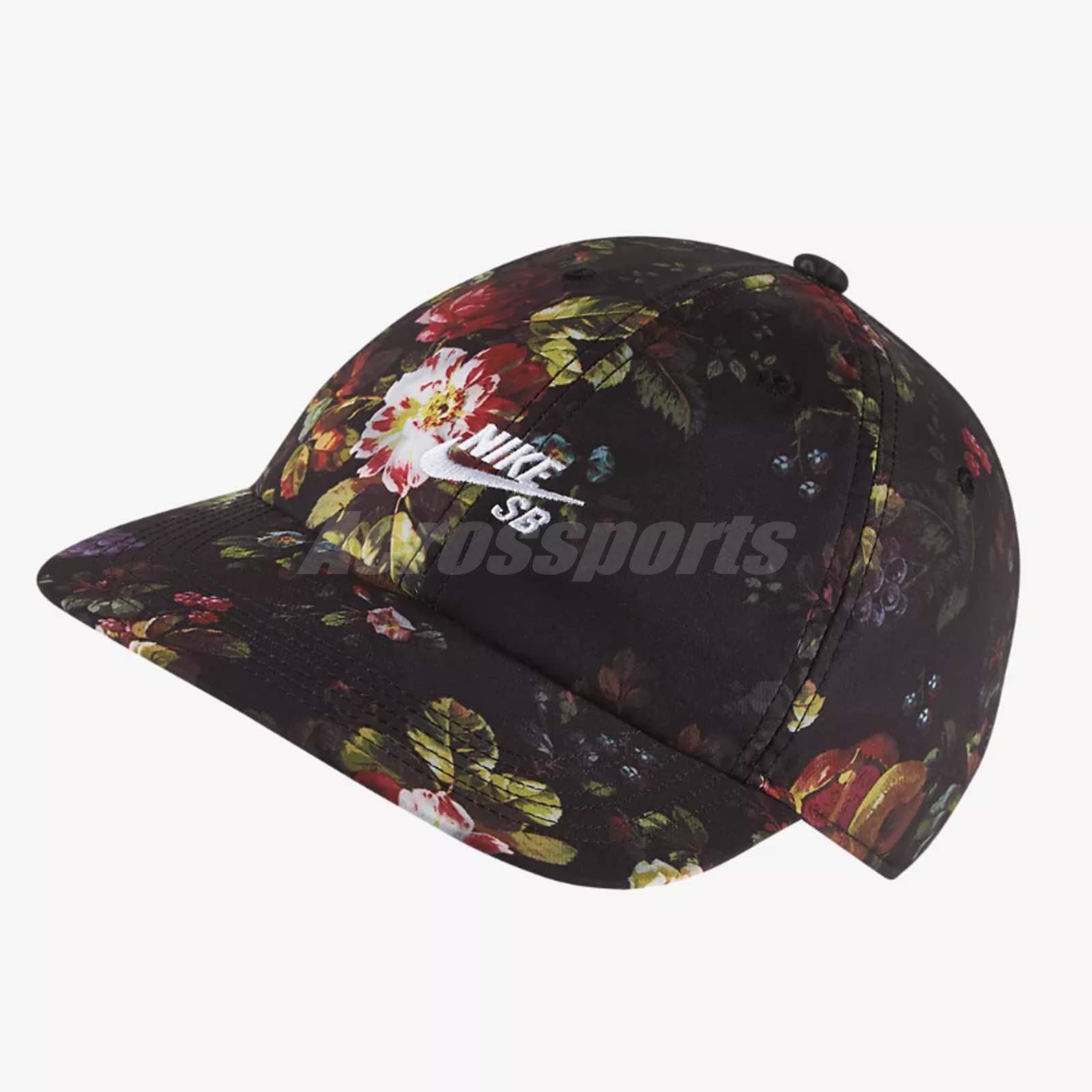 bca534b4c Details about Nike Unisex SB Heritage 86 Adjustable Cap Flora Skateboarding  Hat AQ7925-010