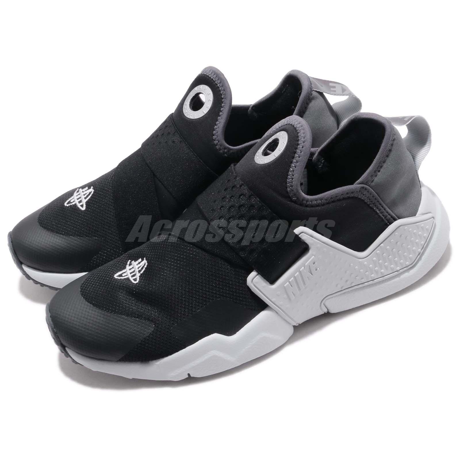 133e8f1992a23 Details about Nike Huarache Extreme SE GS Black Silver Grey Kid Women Slip  On Shoes AQ7936-002