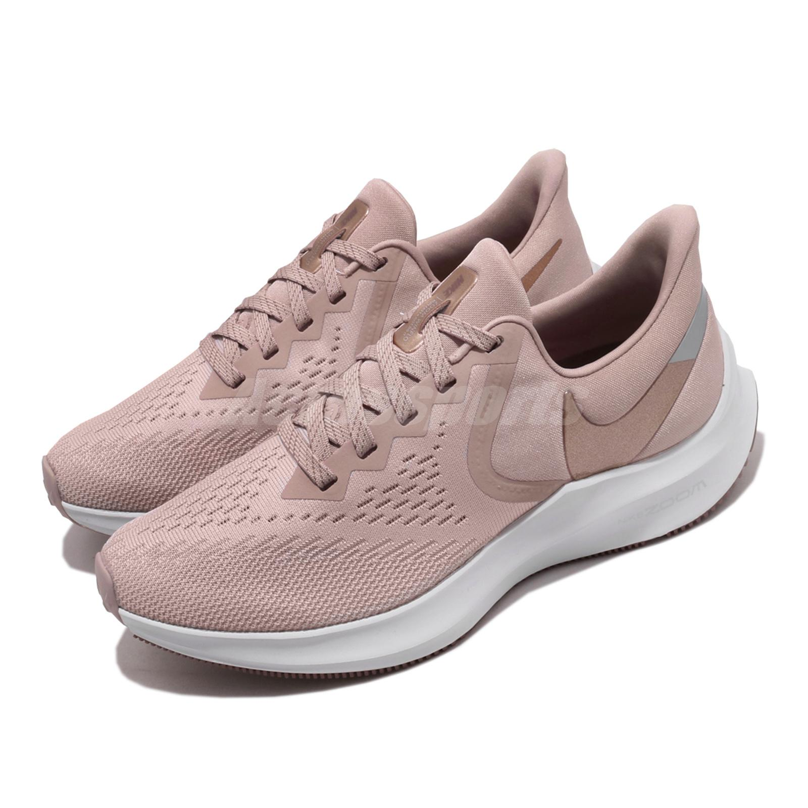 Detalles acerca de Nike Wmns Zoom Winflo 6 Rosa Bronce Mujeres Tenis para  Correr AQ8228-200- mostrar título original