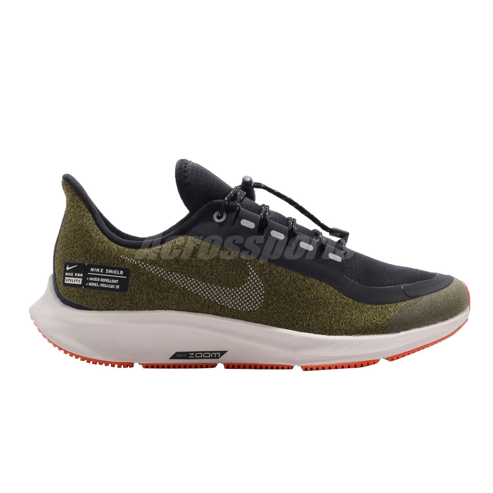 6bb0770626 Nike Air Zoom Pegasus 35 Shield GS Olive Flak Black Kid Women ...