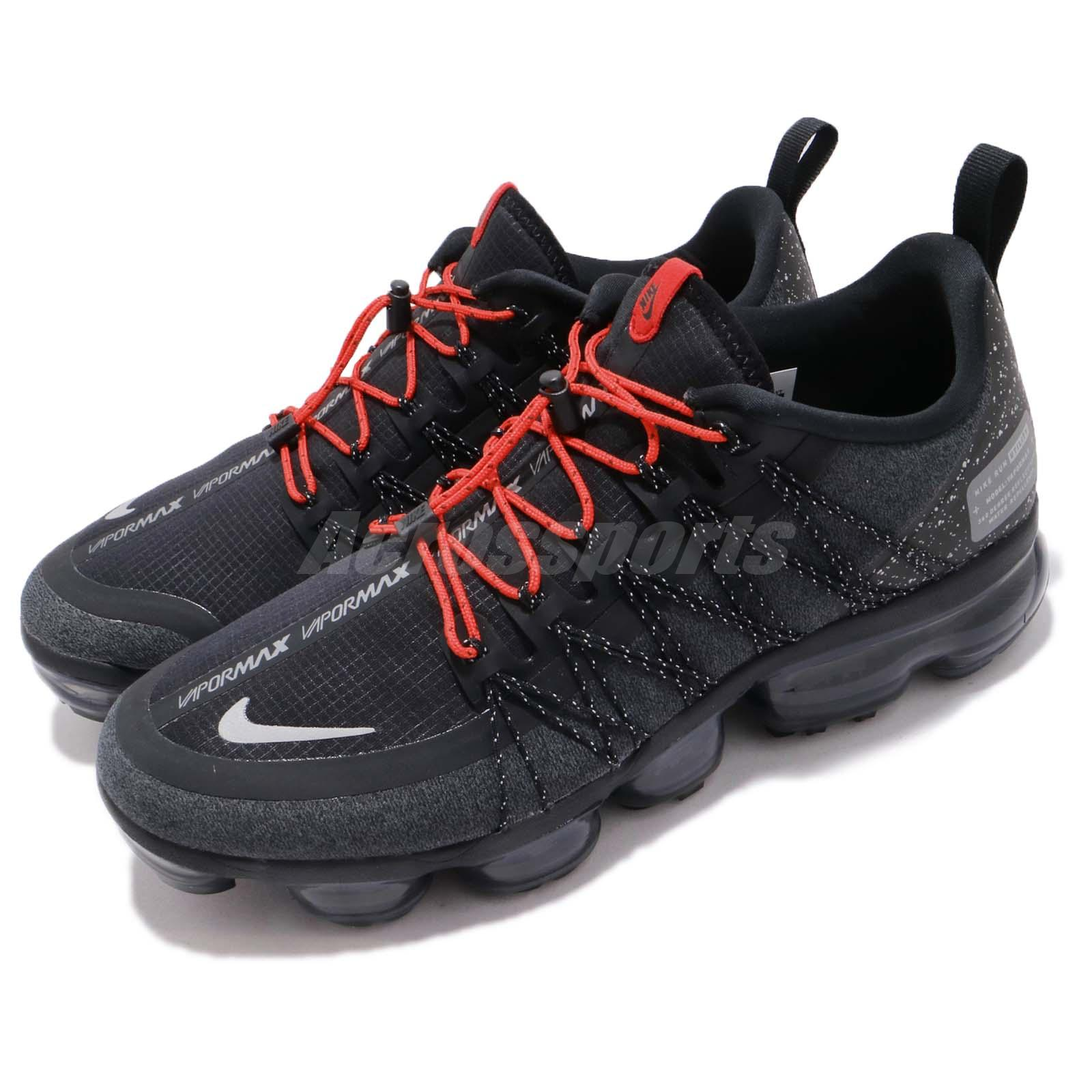 check out fb03e ae8e4 Details about Nike Air Vapormax Run Utility Black Reflect Silver Mens  Running Shoes AQ8810-001