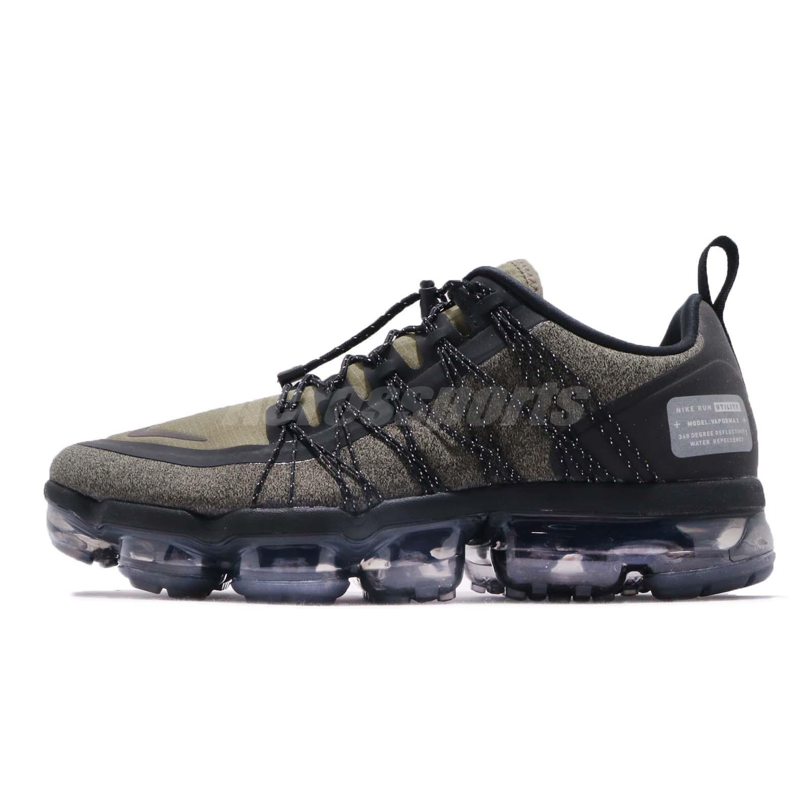 17e8a66709694 Nike Air Vapormax Run Utility Medium Olive Green Mens Running Shoes AQ8810- 201