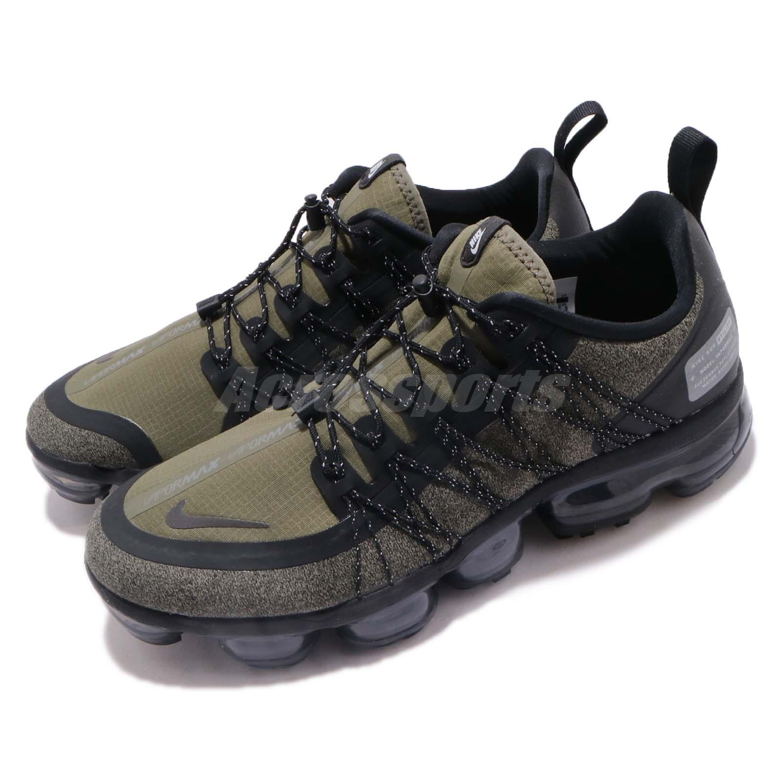 huge selection of ae24f 212dd Details about Nike Air Vapormax Run Utility Medium Olive Green Mens Running  Shoes AQ8810-201
